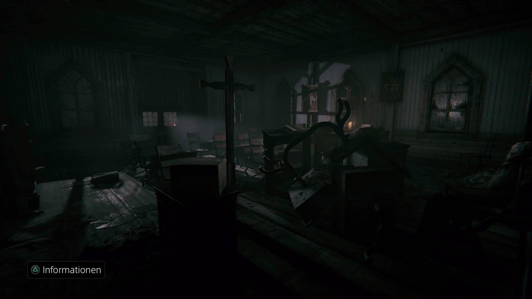 Auch Orte wie diese Kapelle können auf der PS4 mit einem schaurig-schönen Look überzeugen.