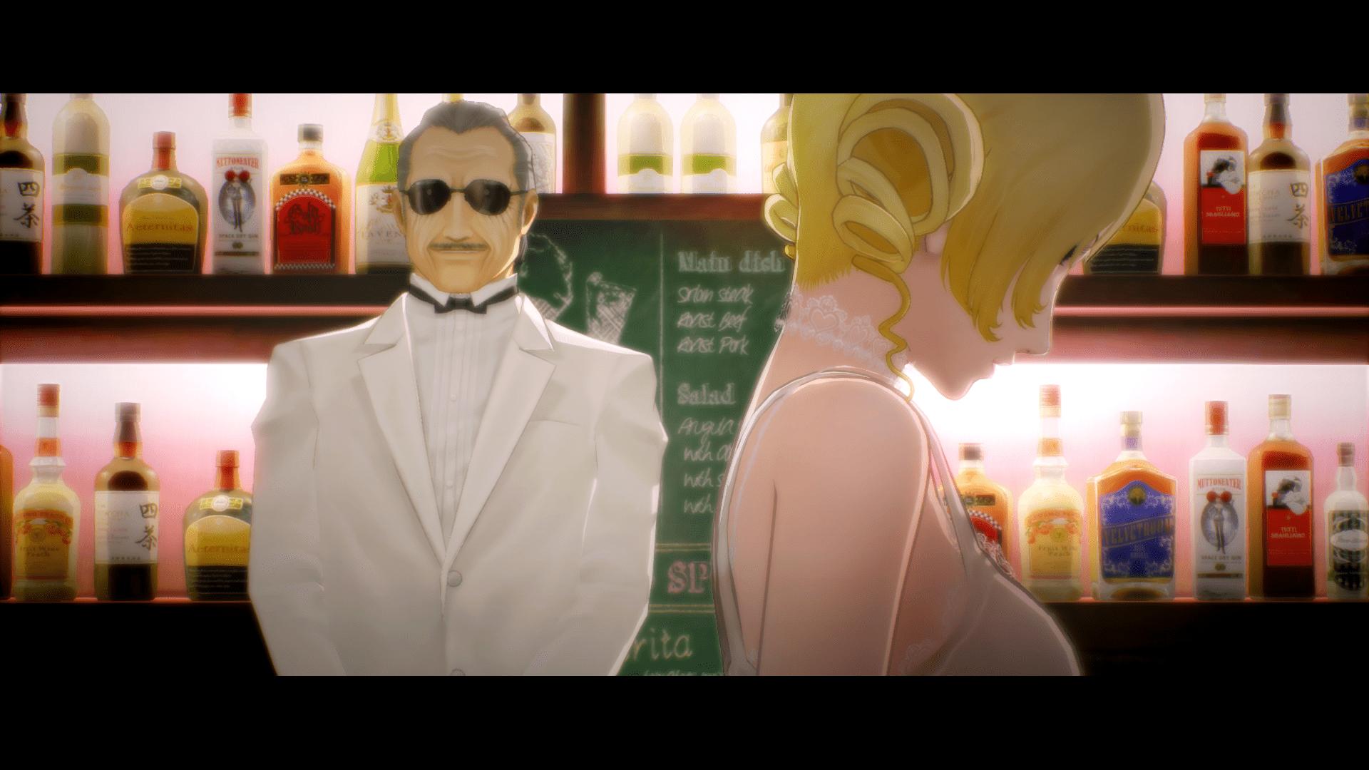 Catherine trefft ihr in der Stammkneipe von Vincent