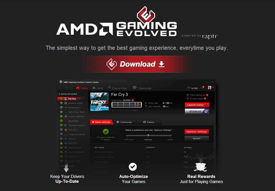 AMD Gaming Evolved belohnt User mit einem neuen Bonus-System.