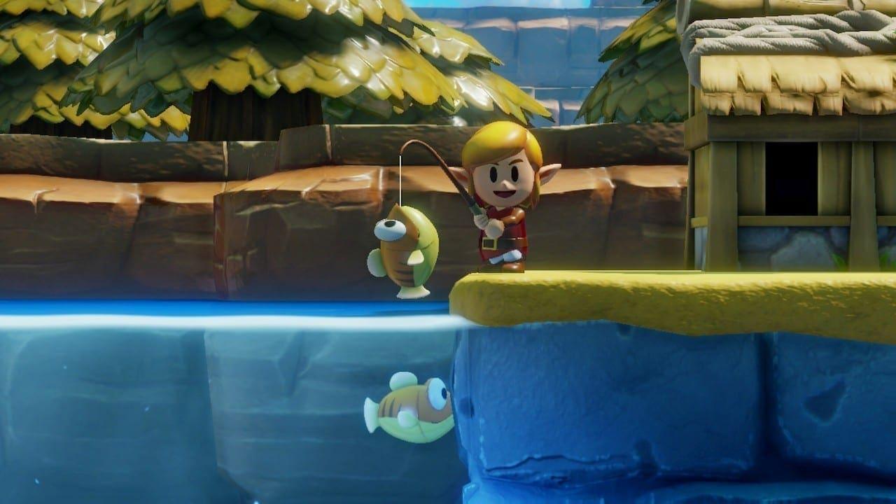 Gefischt wurde in der Serie auch erstmals in Link's Awakening.