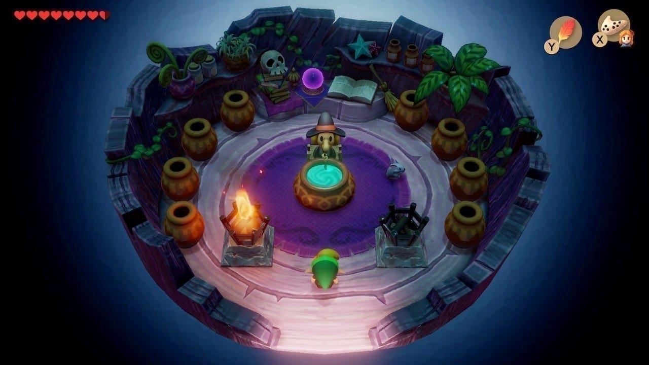 Im Tausch gegen Rubine gibt es bei der Hexe gut entzündliches Zauberpulver.