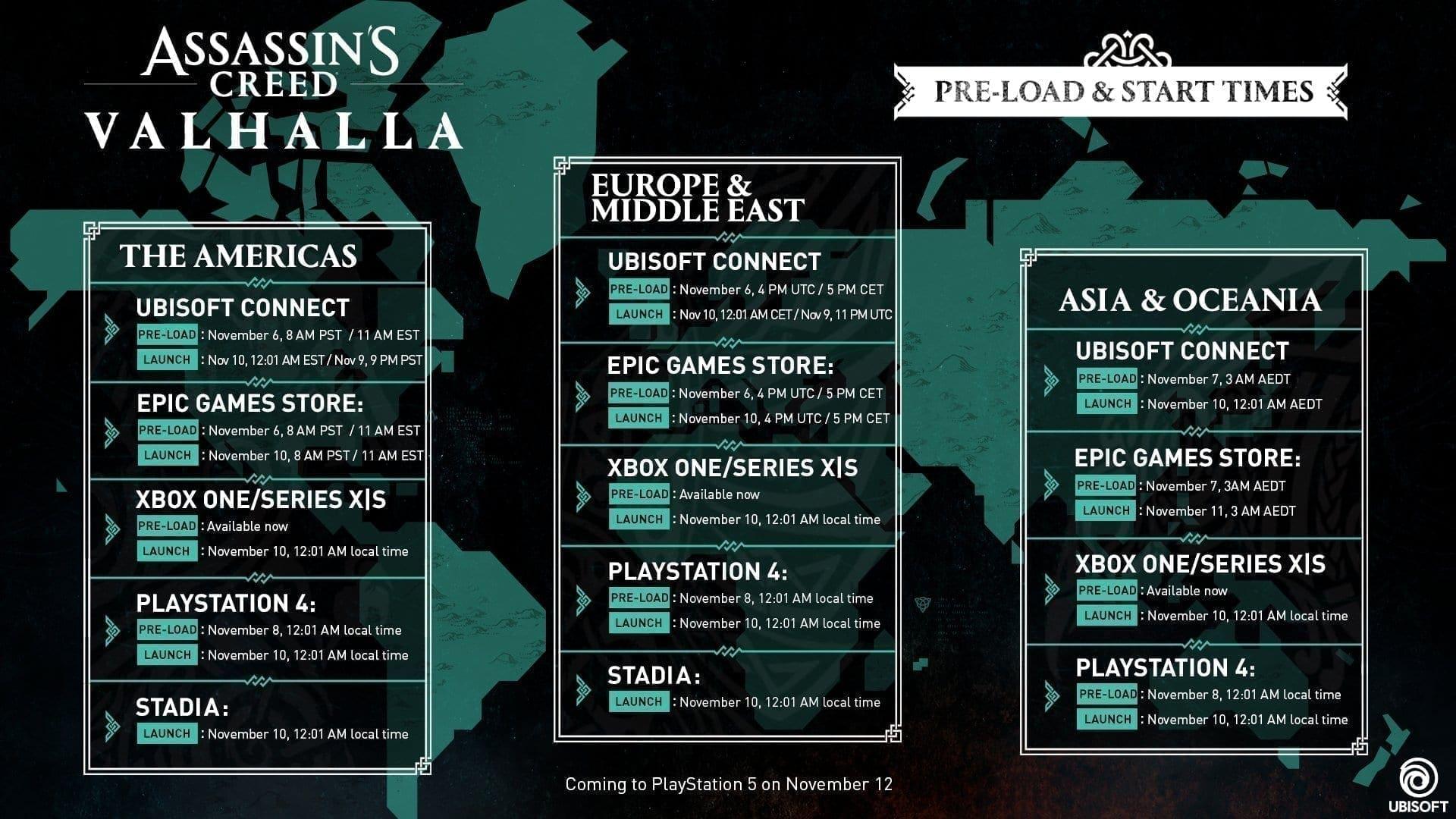 Assassin's Creed Valhalla Pre-Load Launch