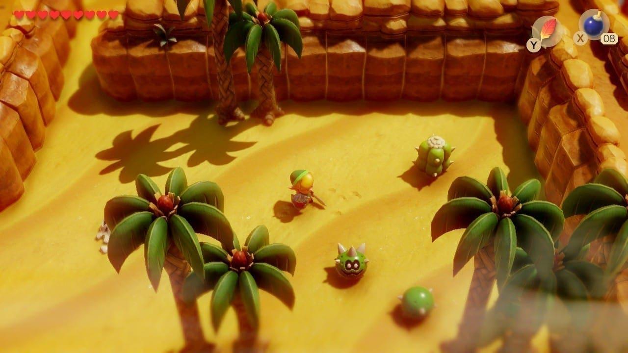 Tief in der Wüste kämpfen wir gegen Kakteen und Sandwürmer.