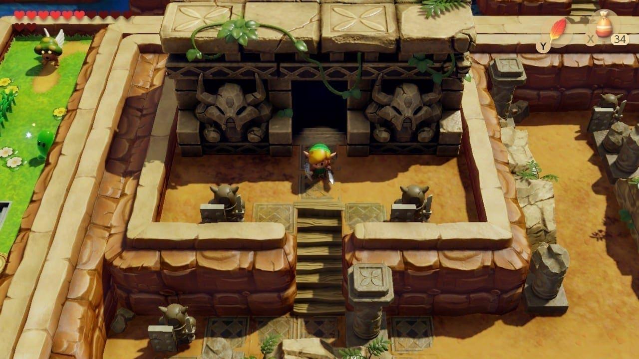 In den Ruinen offenbart sich und das Geheimnis der Insel.
