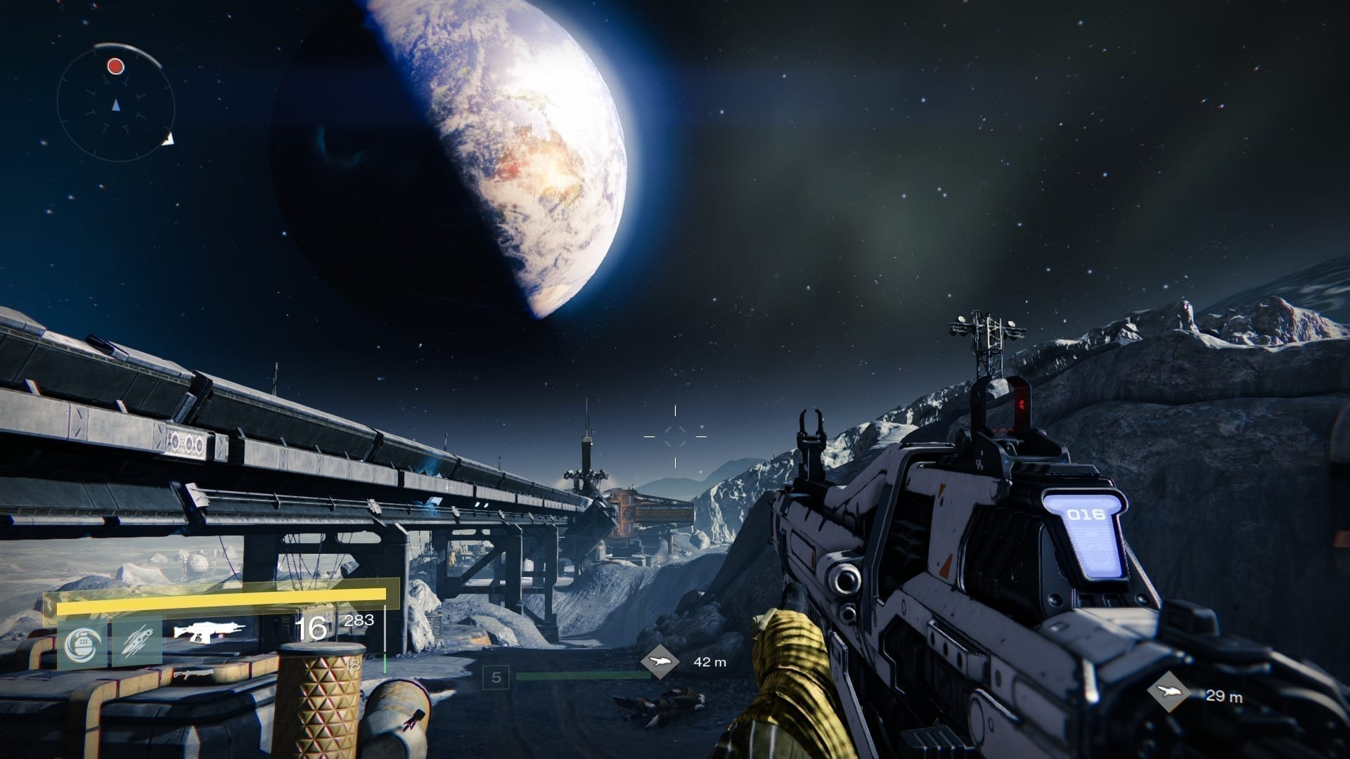 Die zerfurchte Mondlandschaft