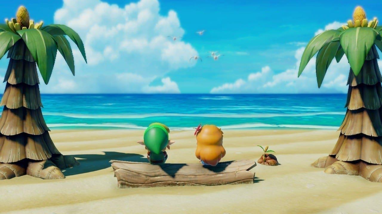 Marin und Link genießen die traumhafte Aussicht am Strand.