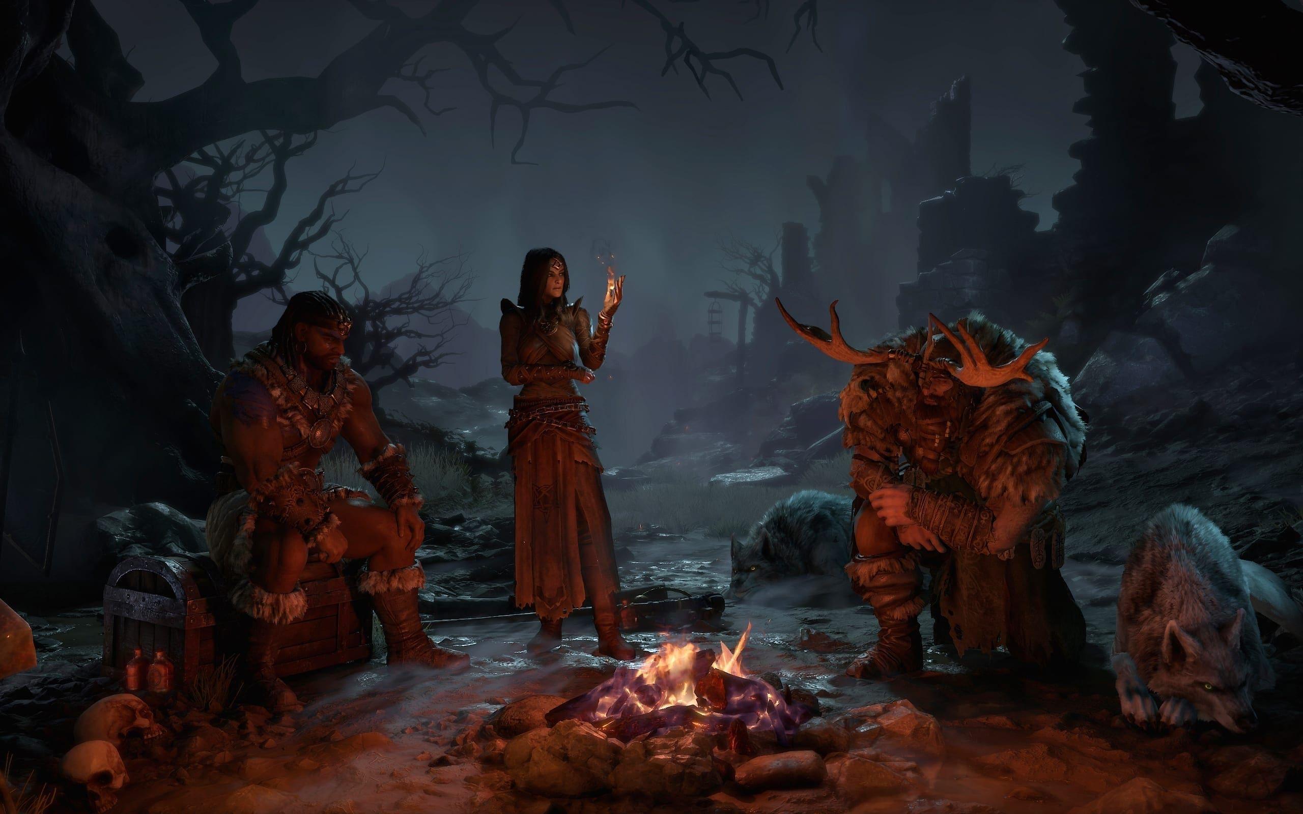 Barbar, Zauberin und Druide werden mit zwei weiteren Klassen Sankturio retten müssen!