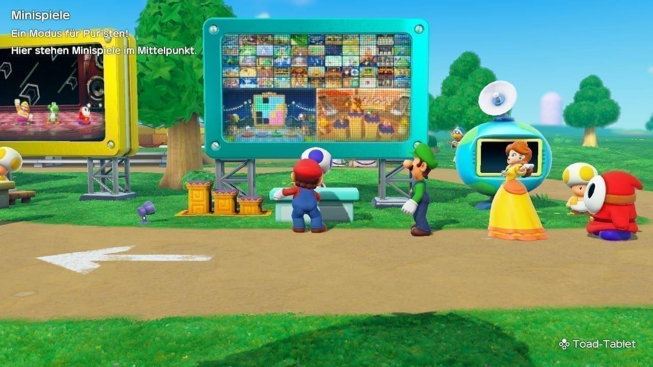 Auf der Party Plaza können die verschiedenen Modi aufgesucht werden.