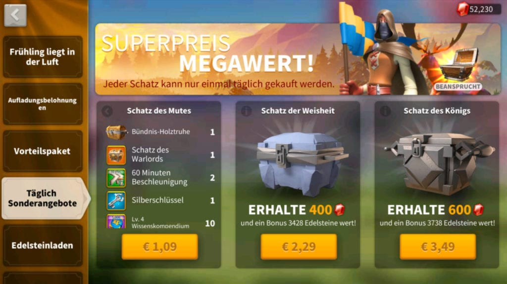 Lootboxen in Rise of Kingdoms