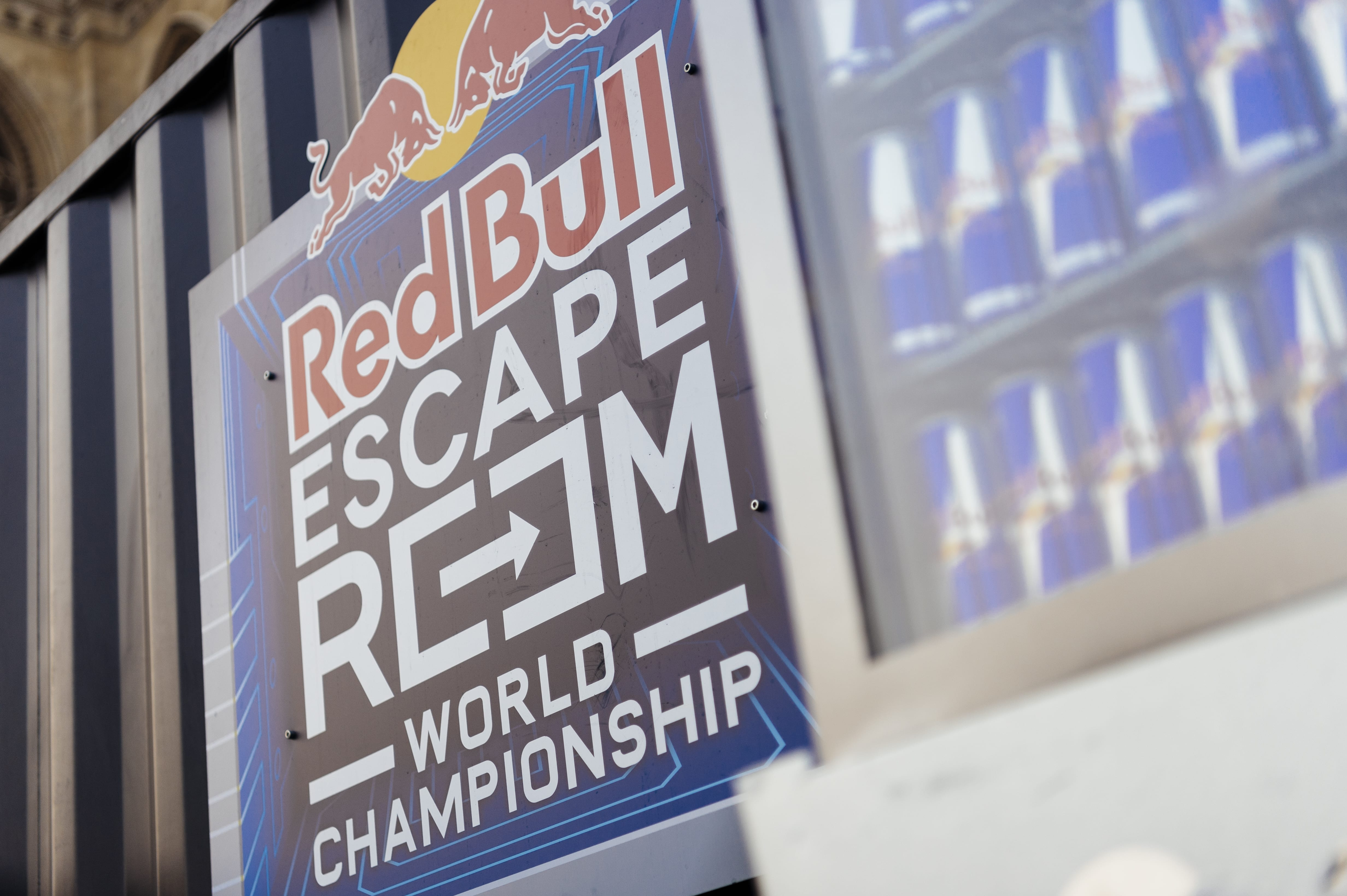 Detail of a sign at the Red Bull Escape Room World Championship Qualifier 2018 Vienna, Austria on October 19th, 2018