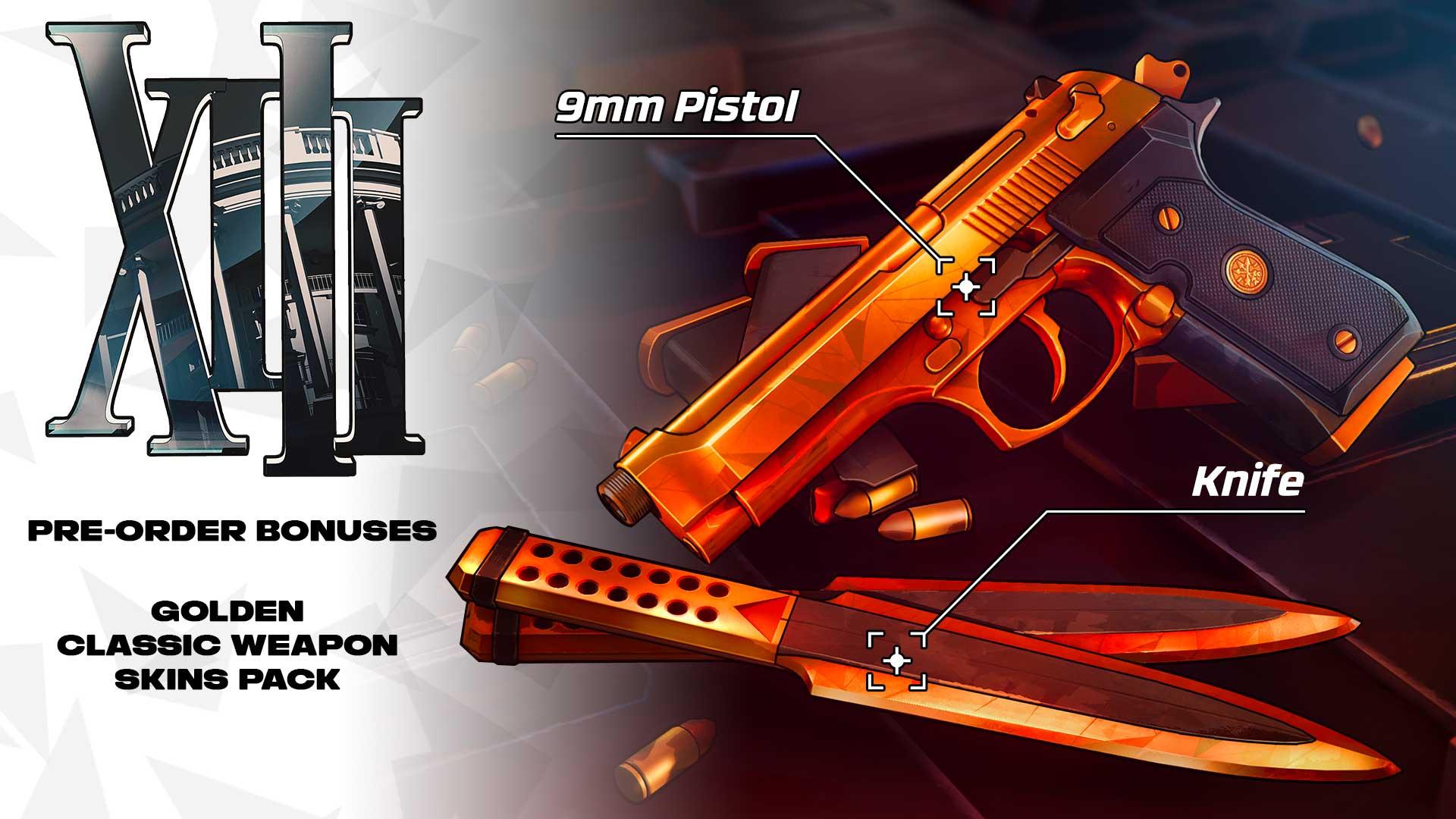 XIII Preorder Bonus: Das Golden Classic Weapon Skins-Pack