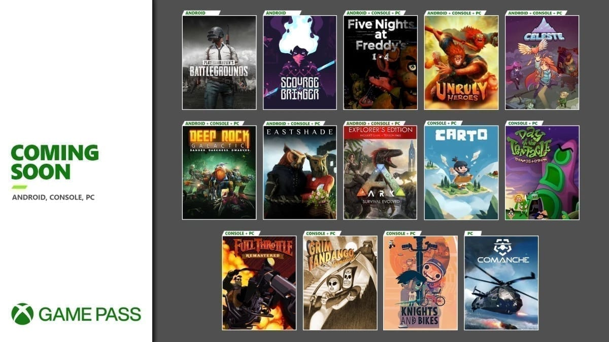 Xbox Game Pass Halloween November