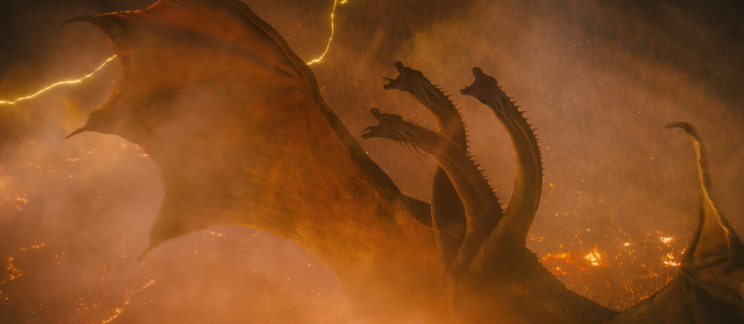 """KING GHIDORAH in Warner Bros. Pictures' and Legendary Pictures' action adventure """"GODZILLA: KING OF THE MONSTERS,"""" a Warner Bros. Pictures release."""