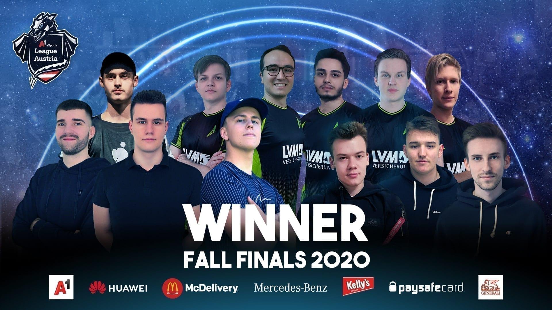 A1 eSports Fall Finals 2020 die Gewinner