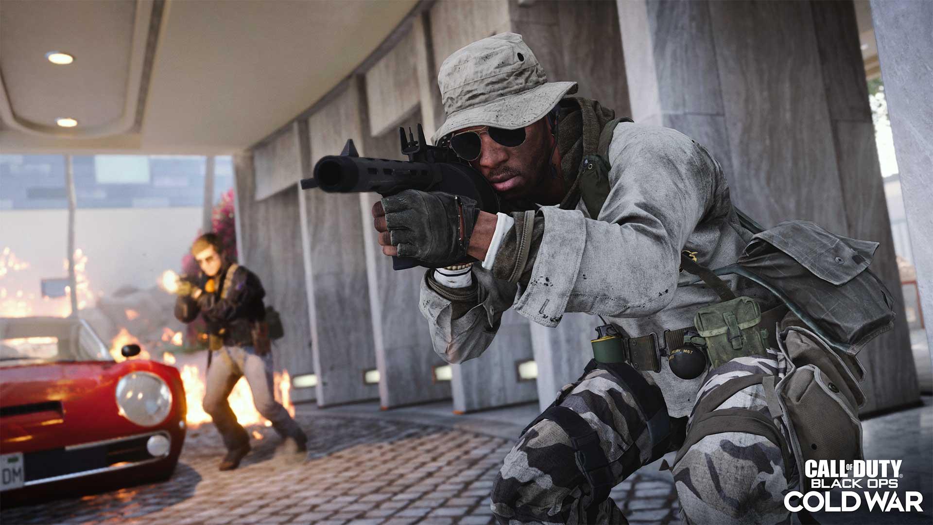 Screenhsot des Spiels Call of Duty: Black Ops Cold War Saison 1 zeigt die neue Waffe Schrotflinte