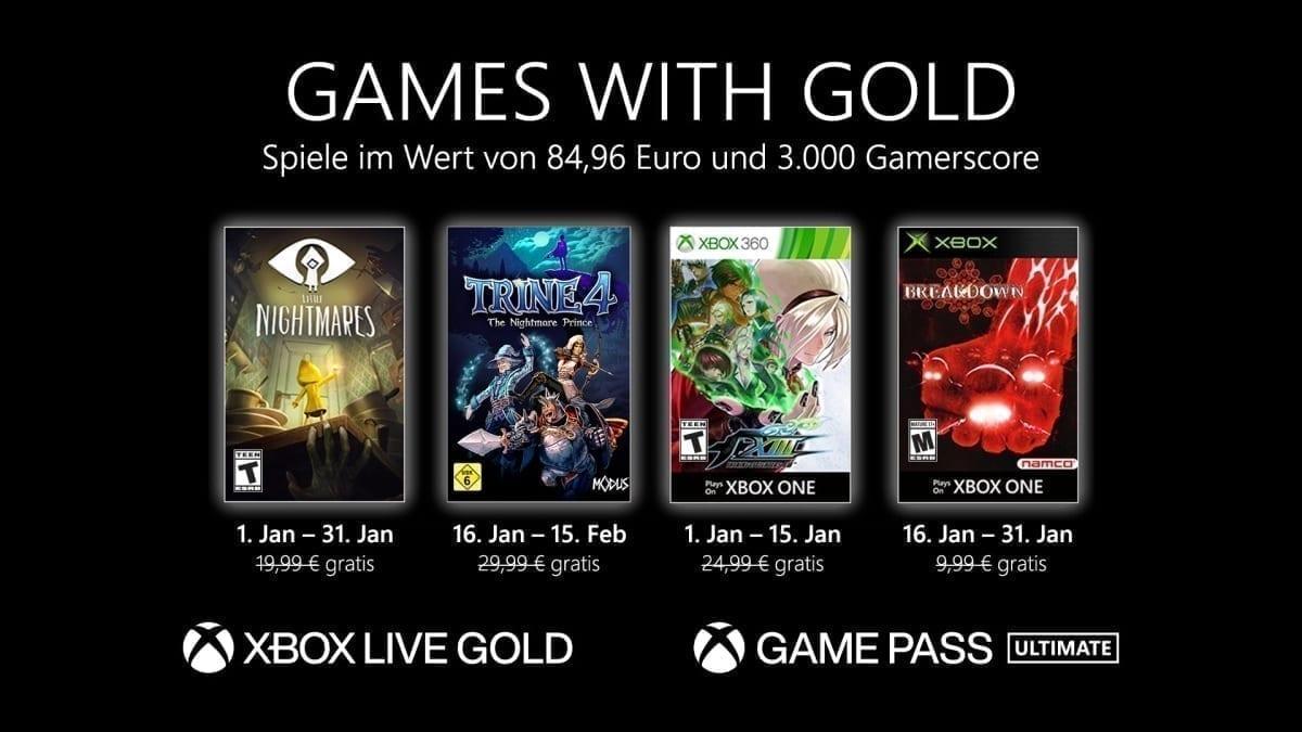 Games With Gold im Jänner 2021