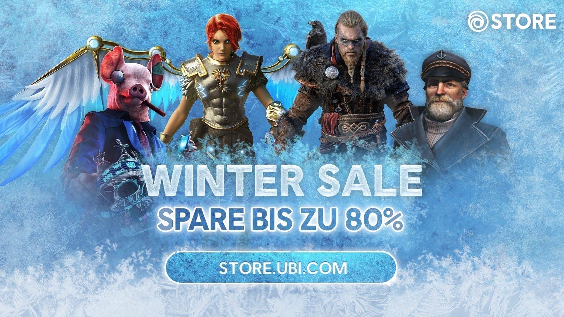 Ubisoft Store Winter Sale Screenshot bewirbt einen Rabatt von 80%