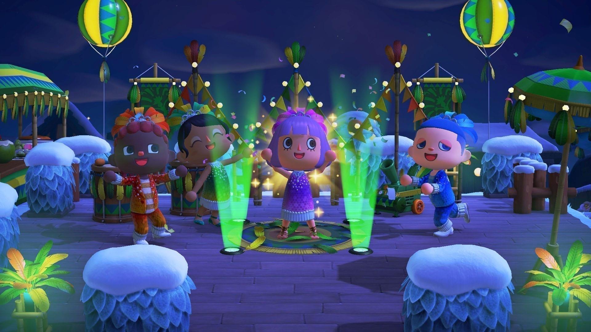 Animal Crossing New Horizons Karneval Feier