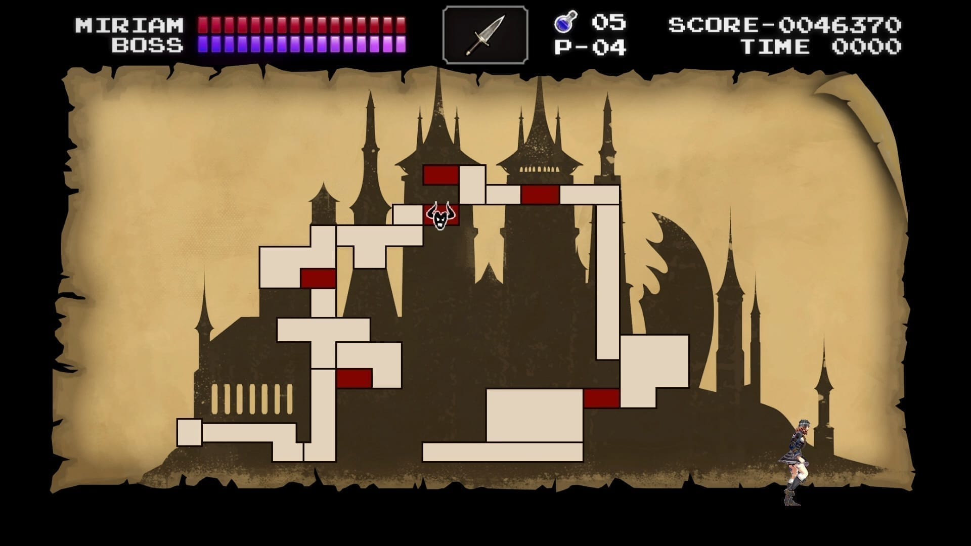 Bloodstained: Ritual of the Night Classic Mode Map