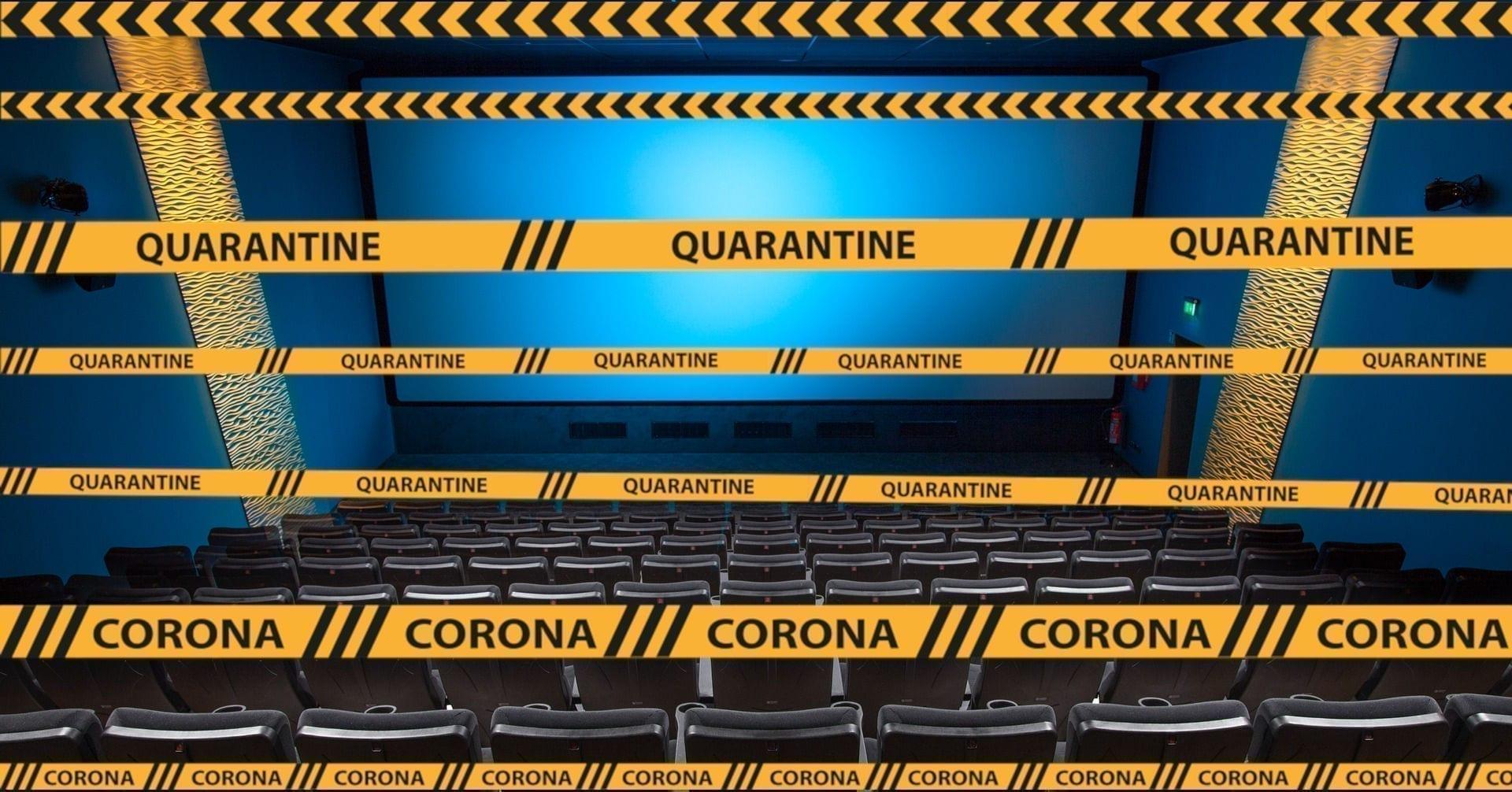 Kino wegen Corona gesperrt