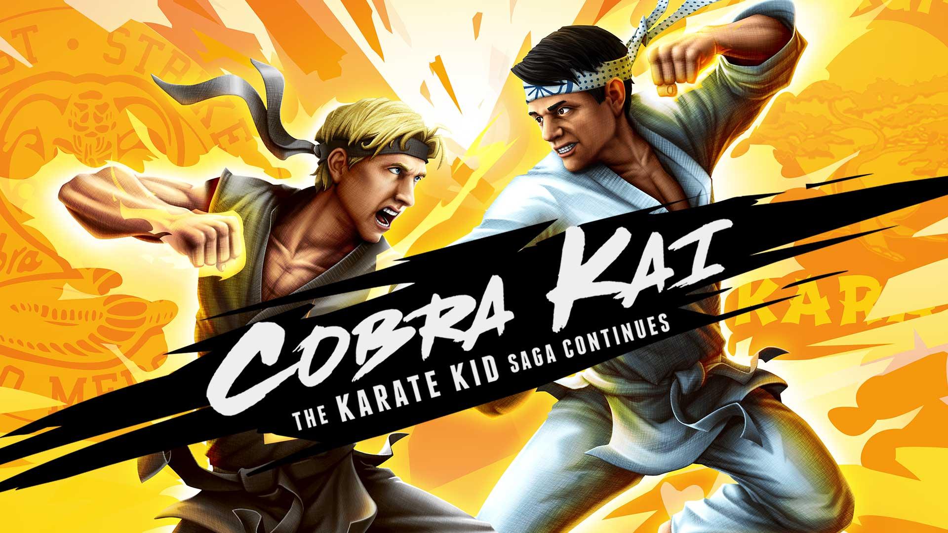 Cobra Kai: The Karate Kid Saga Continues Key Art Noch mehr Spiele für den Lockdown