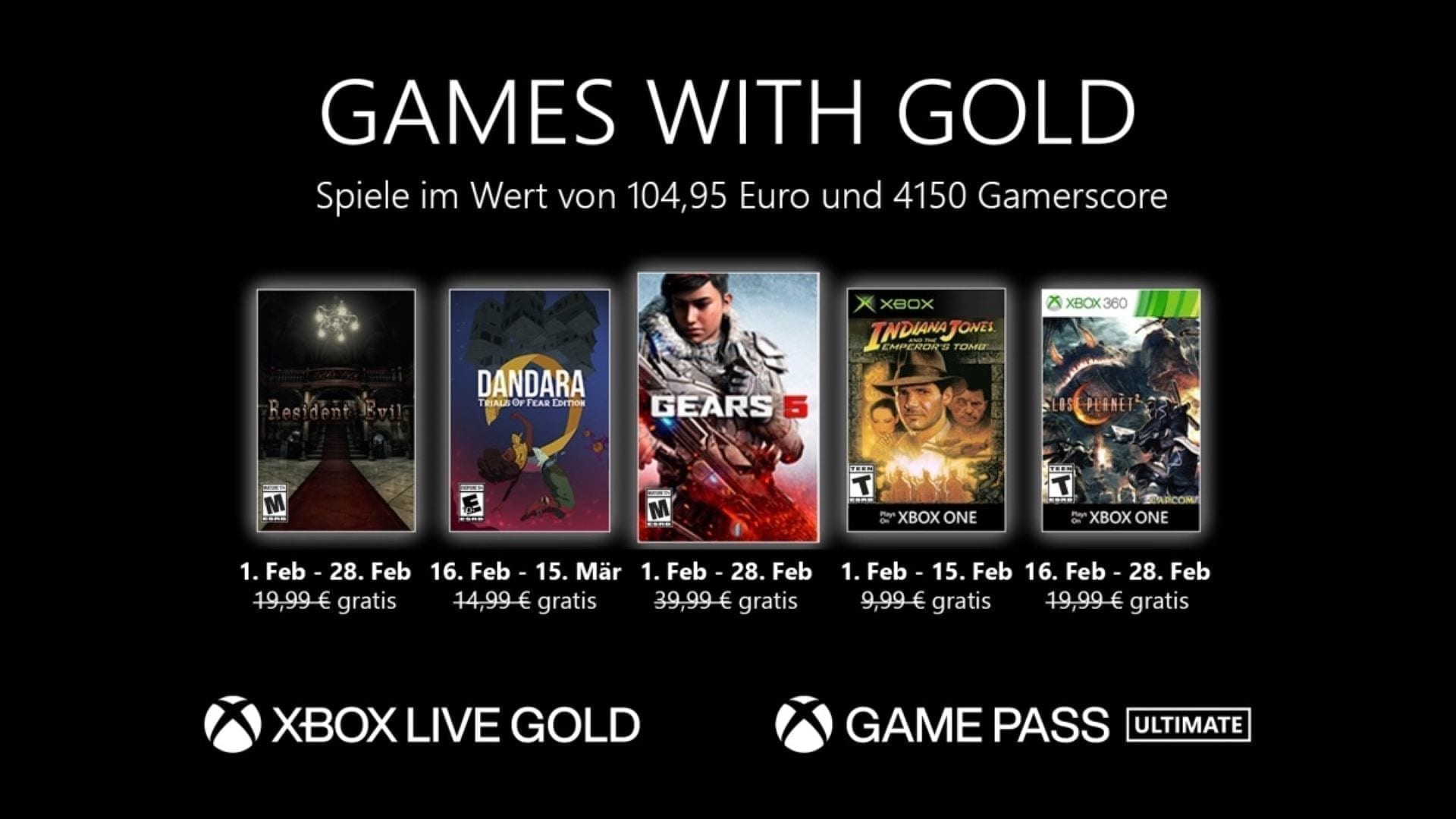 Games with Gold Februar 2021 Keyart