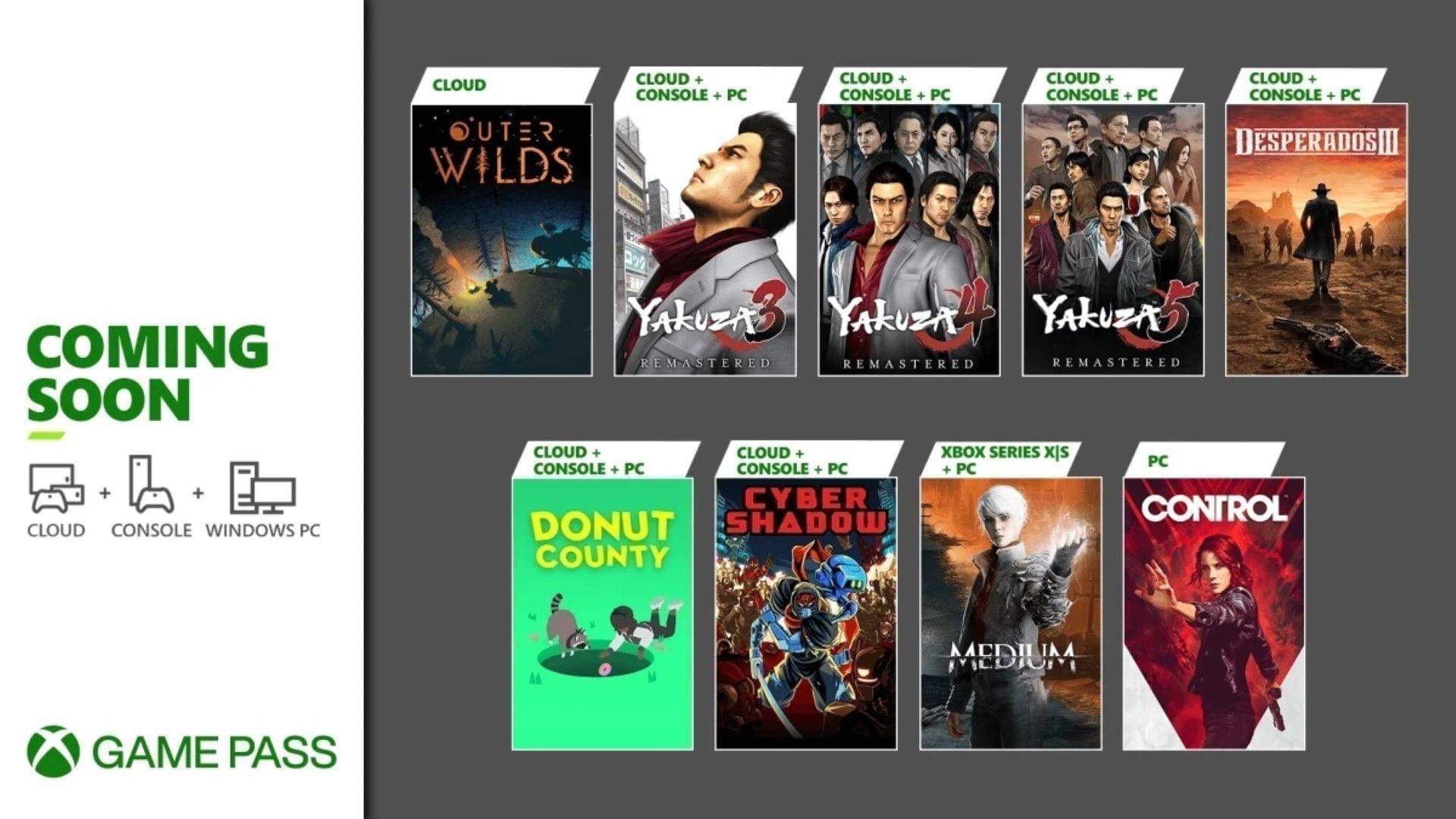 Xbox Game Pass weitere Highlights im Januar 2021