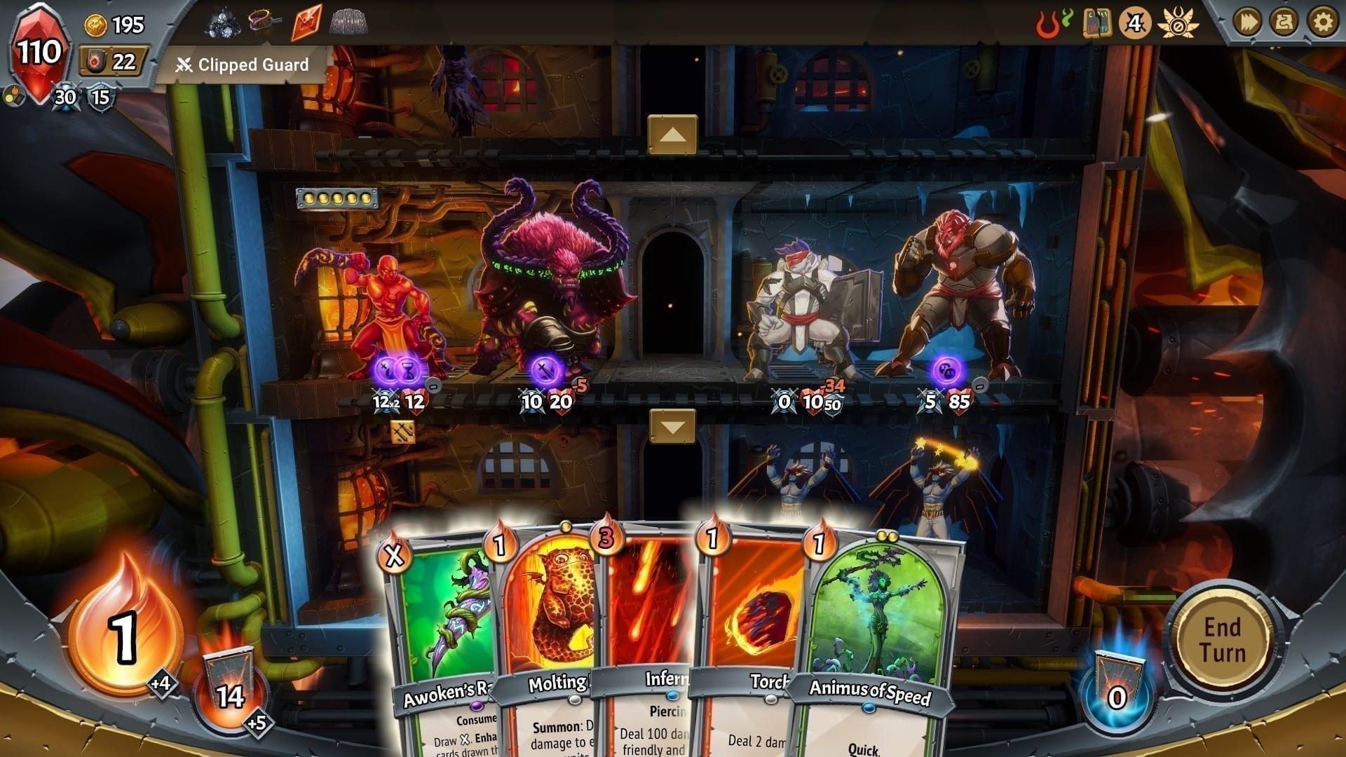 Card Battler Special Teil 1 Monster Train Kampf