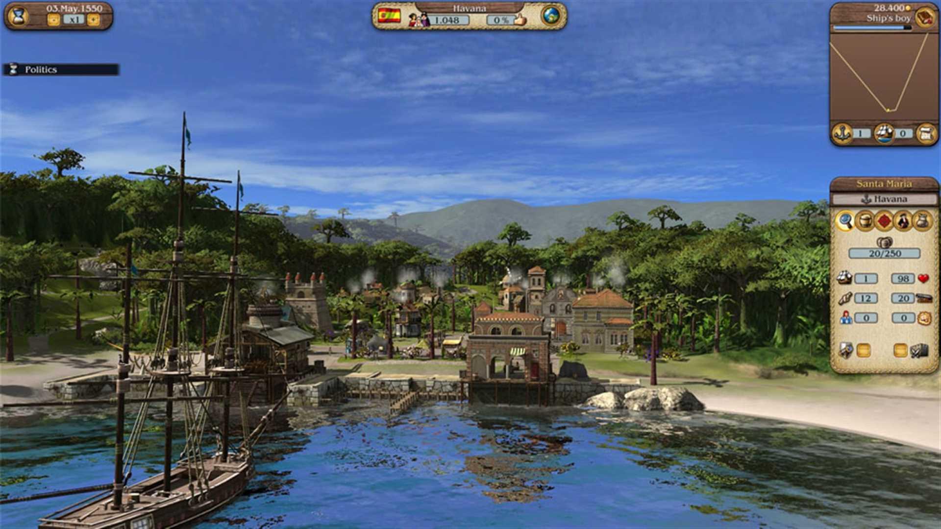 Games with Gold März 2021 Port Royale 3 Hafen