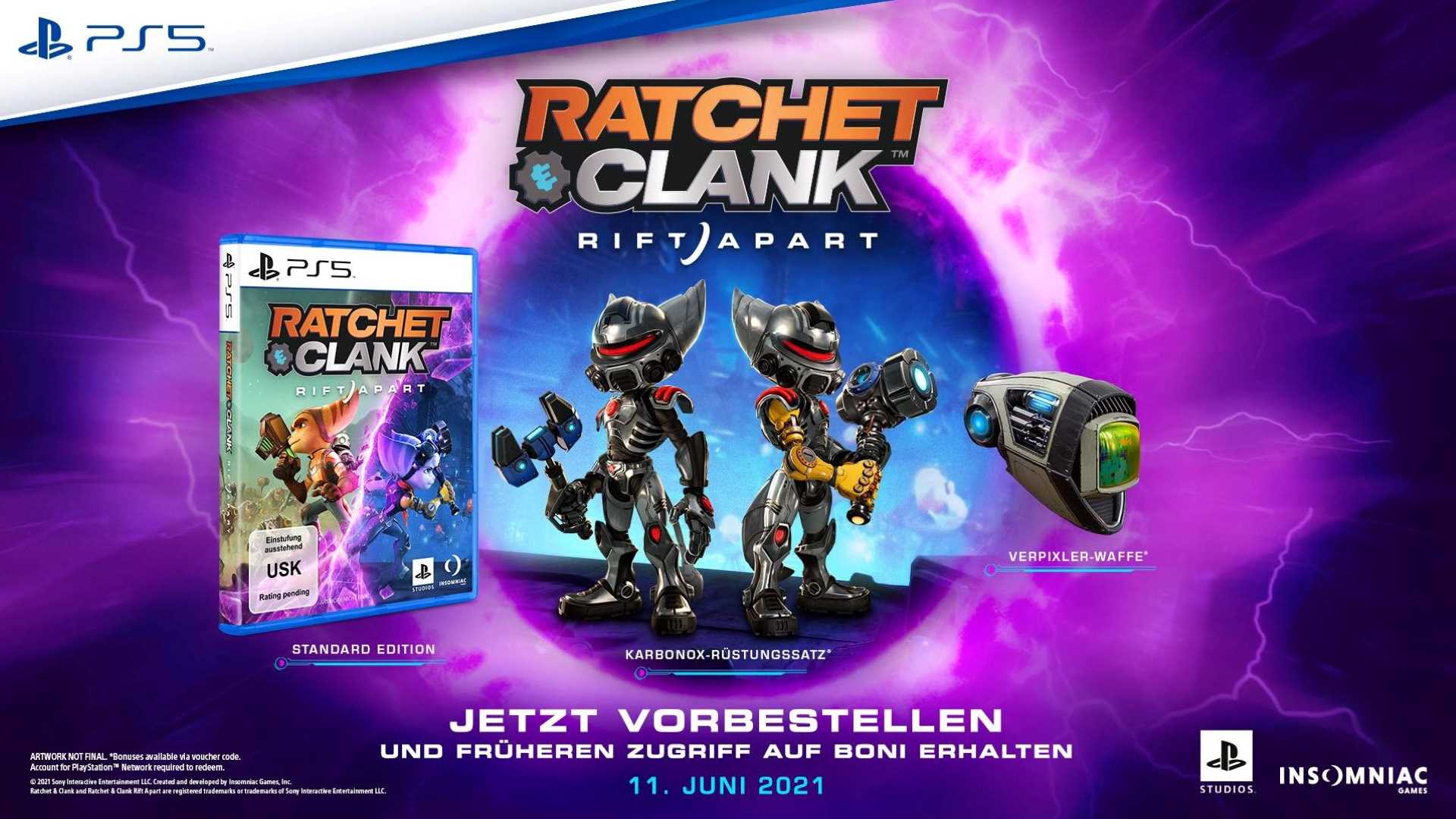 Ratchet & Clank: Rift Apart ist in drei verschiedenen Editionen vorbestellbar