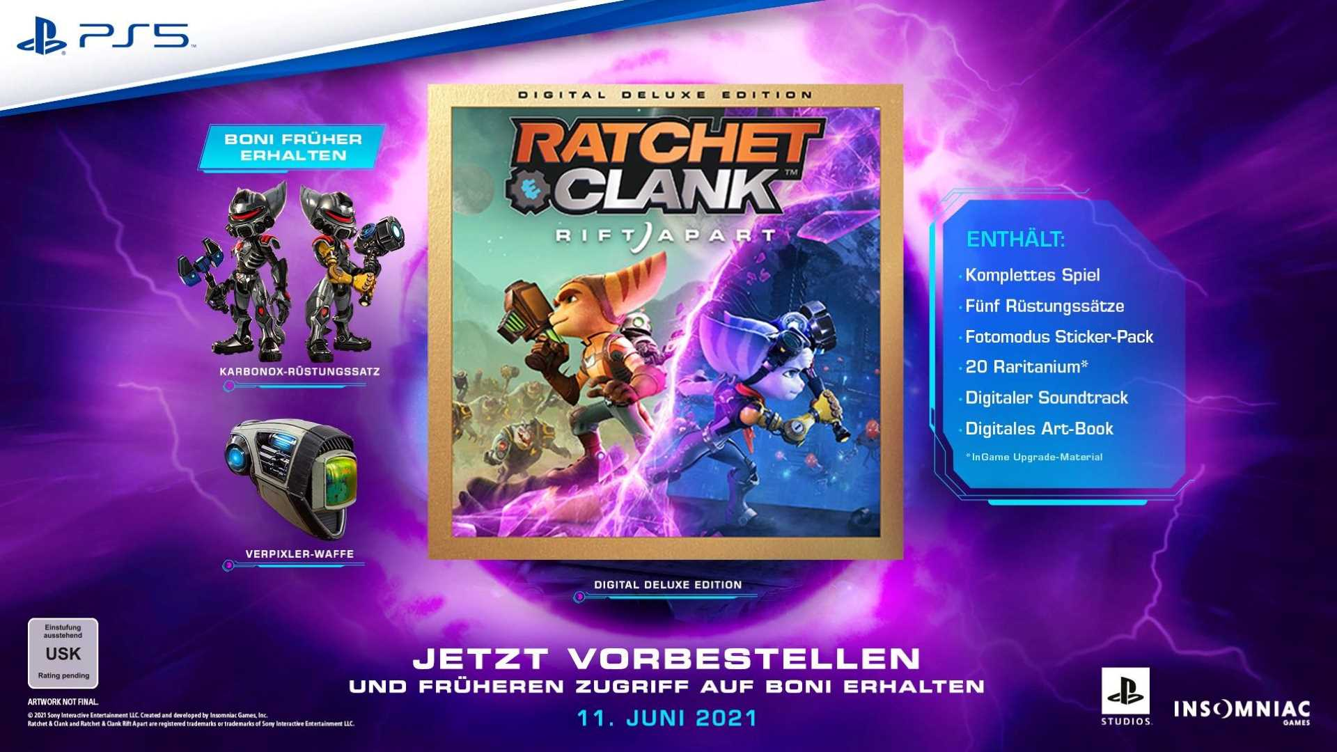Ratchet & Clank: Rift Apart Vorbestellerboni