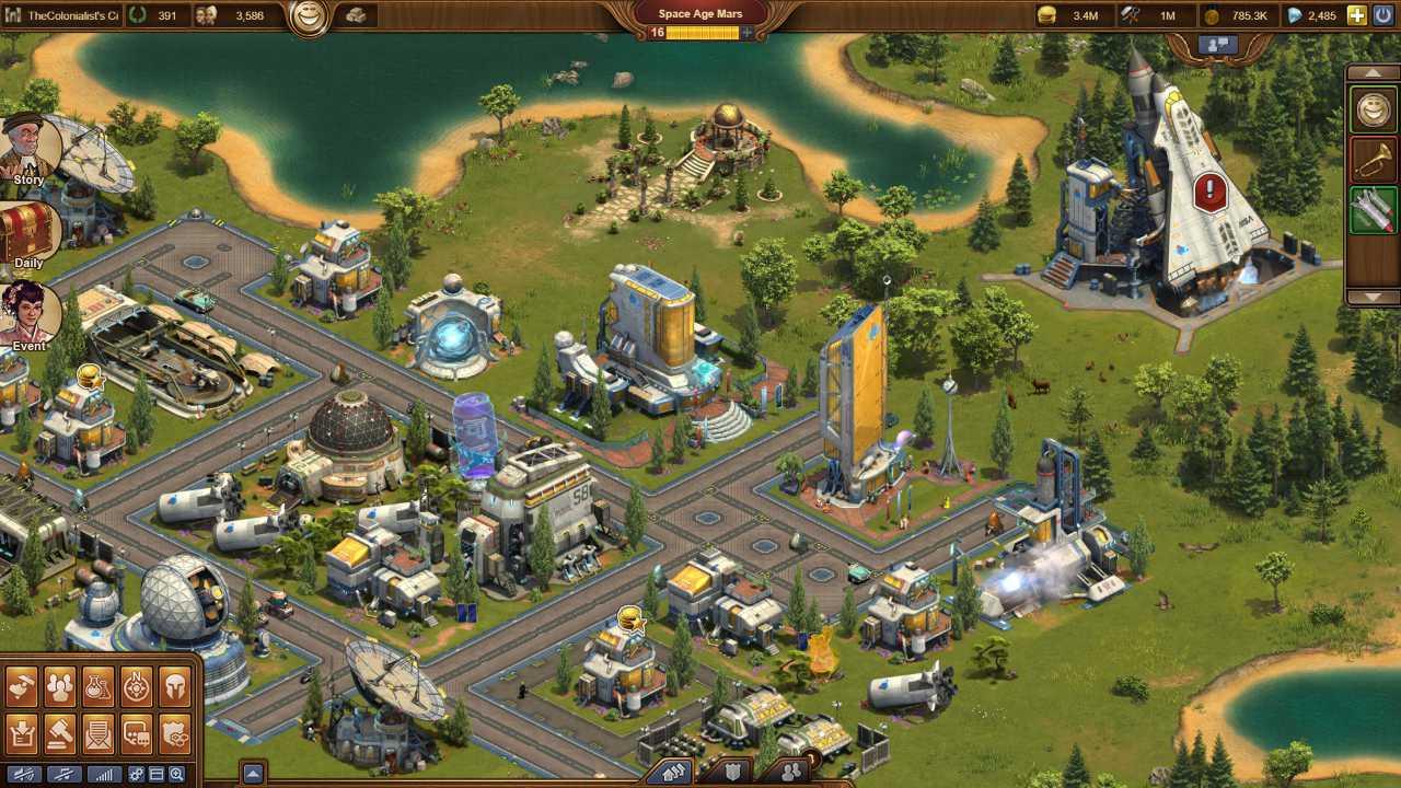 Screenshot aus dem Aufbaustrategiespiel Forge of Empires