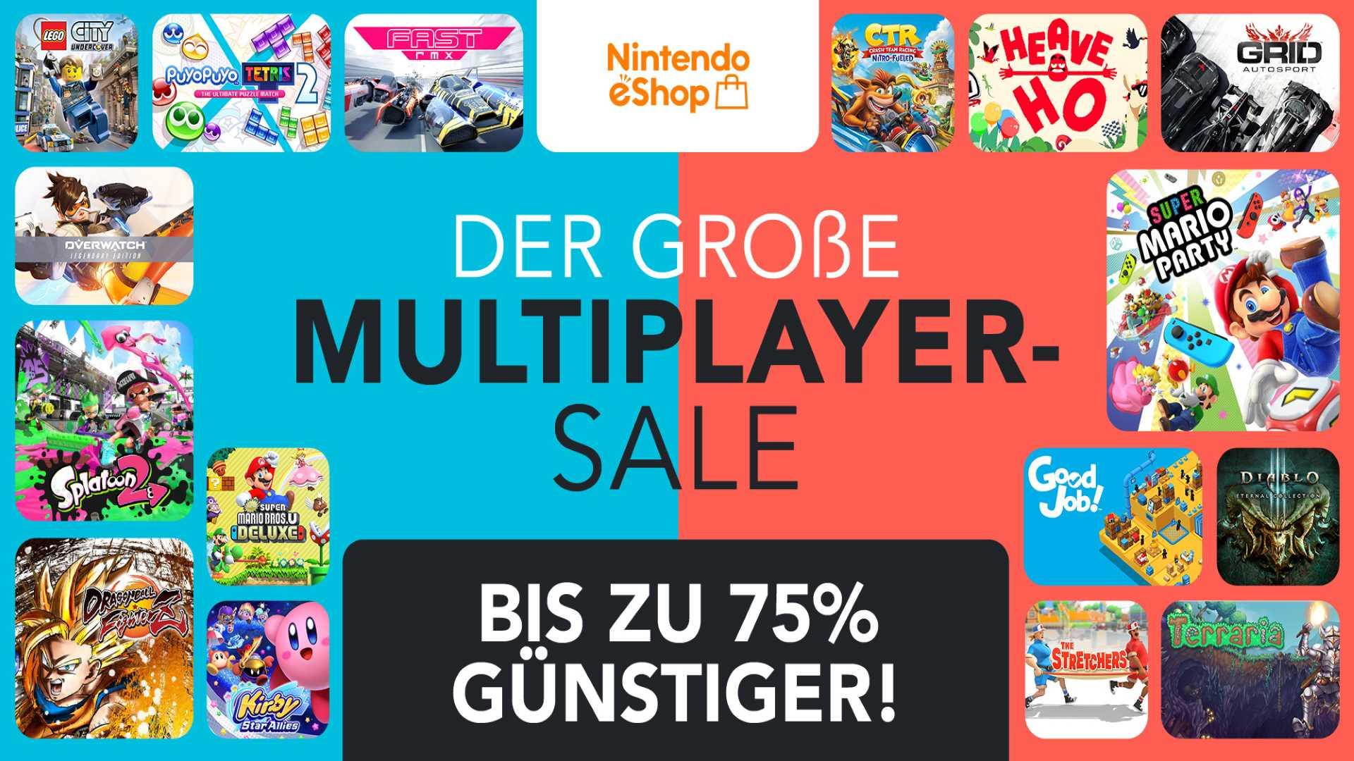 Nintendo eShop Multiplayer Sale - Keyart