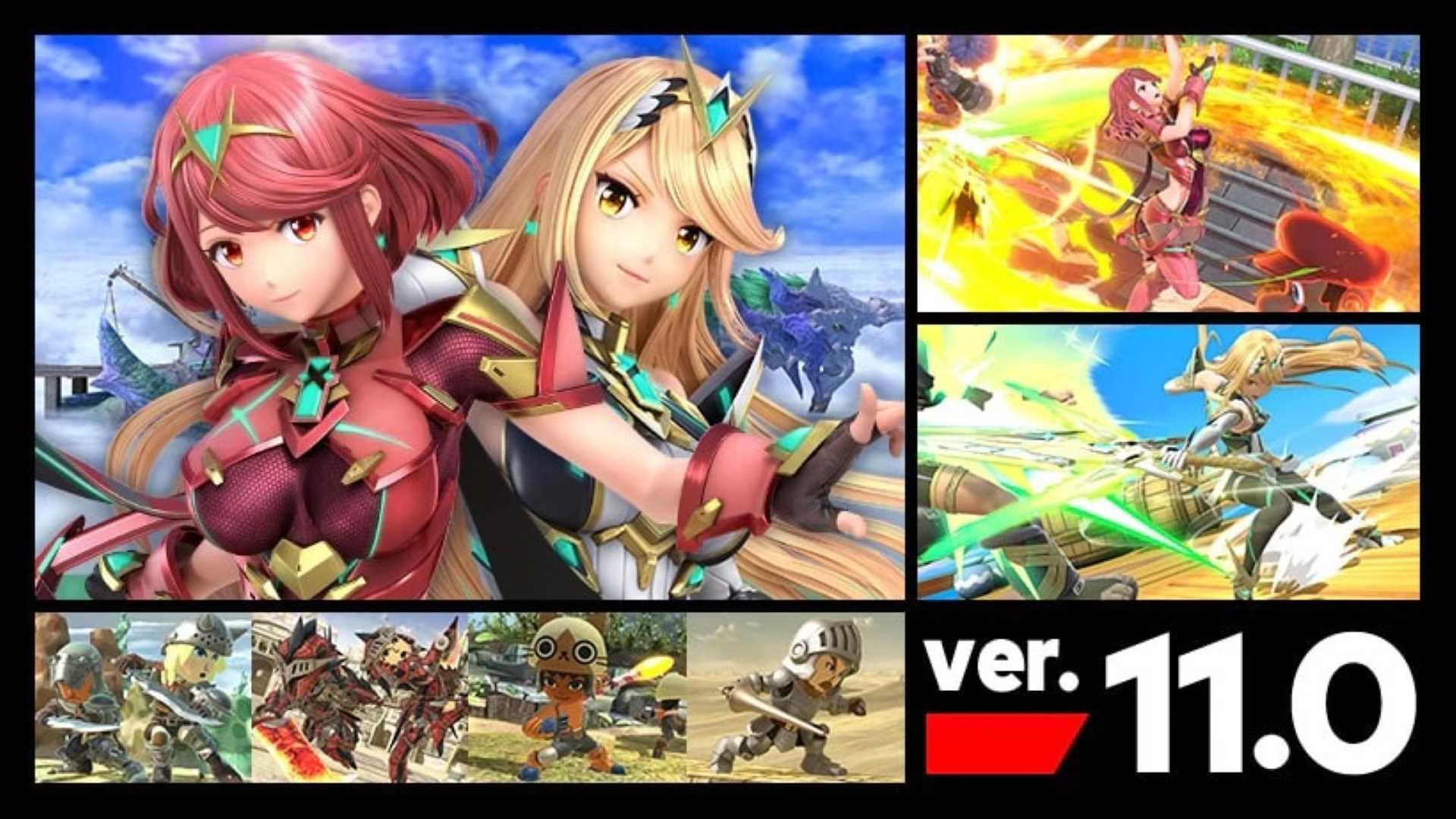 Super Smash Bros Pyra Mythra Ver 11.0