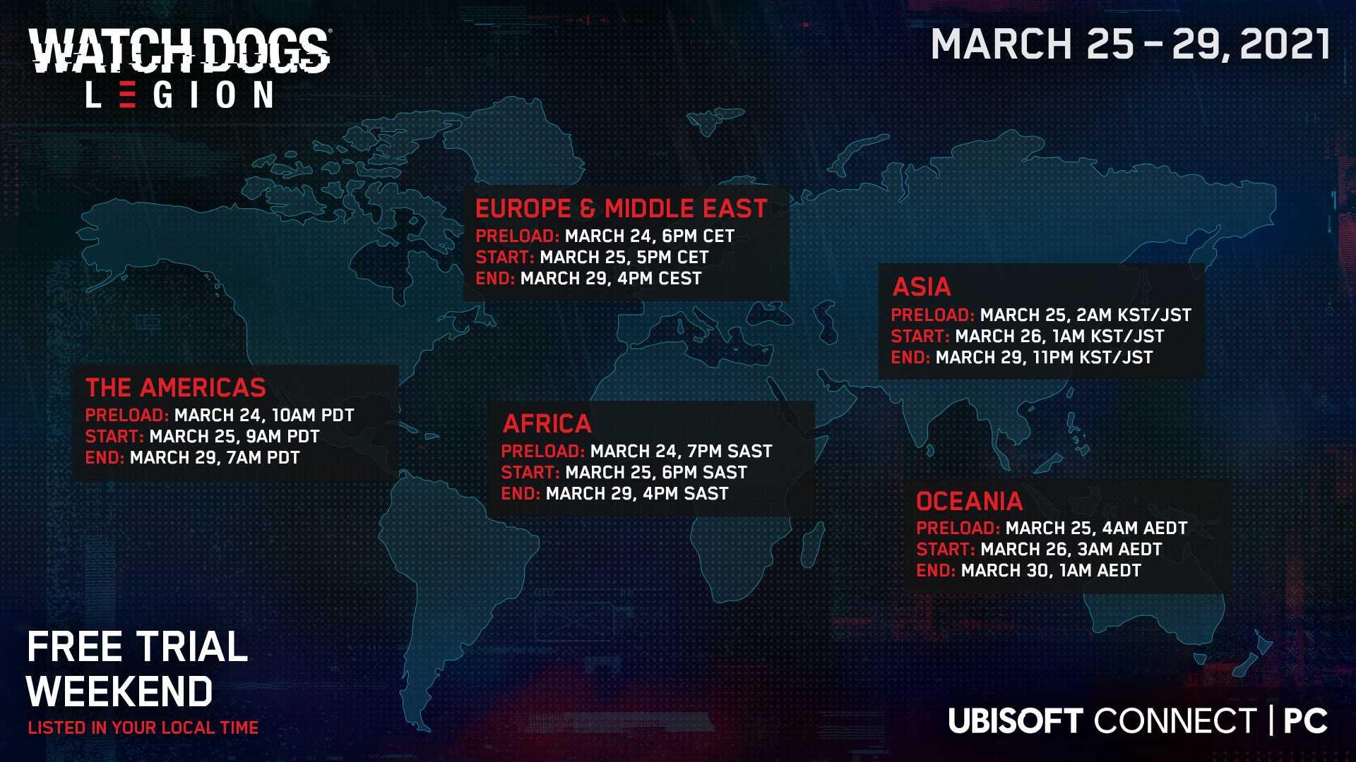 Watch Dogs: Legion Free Weekend - Infografik