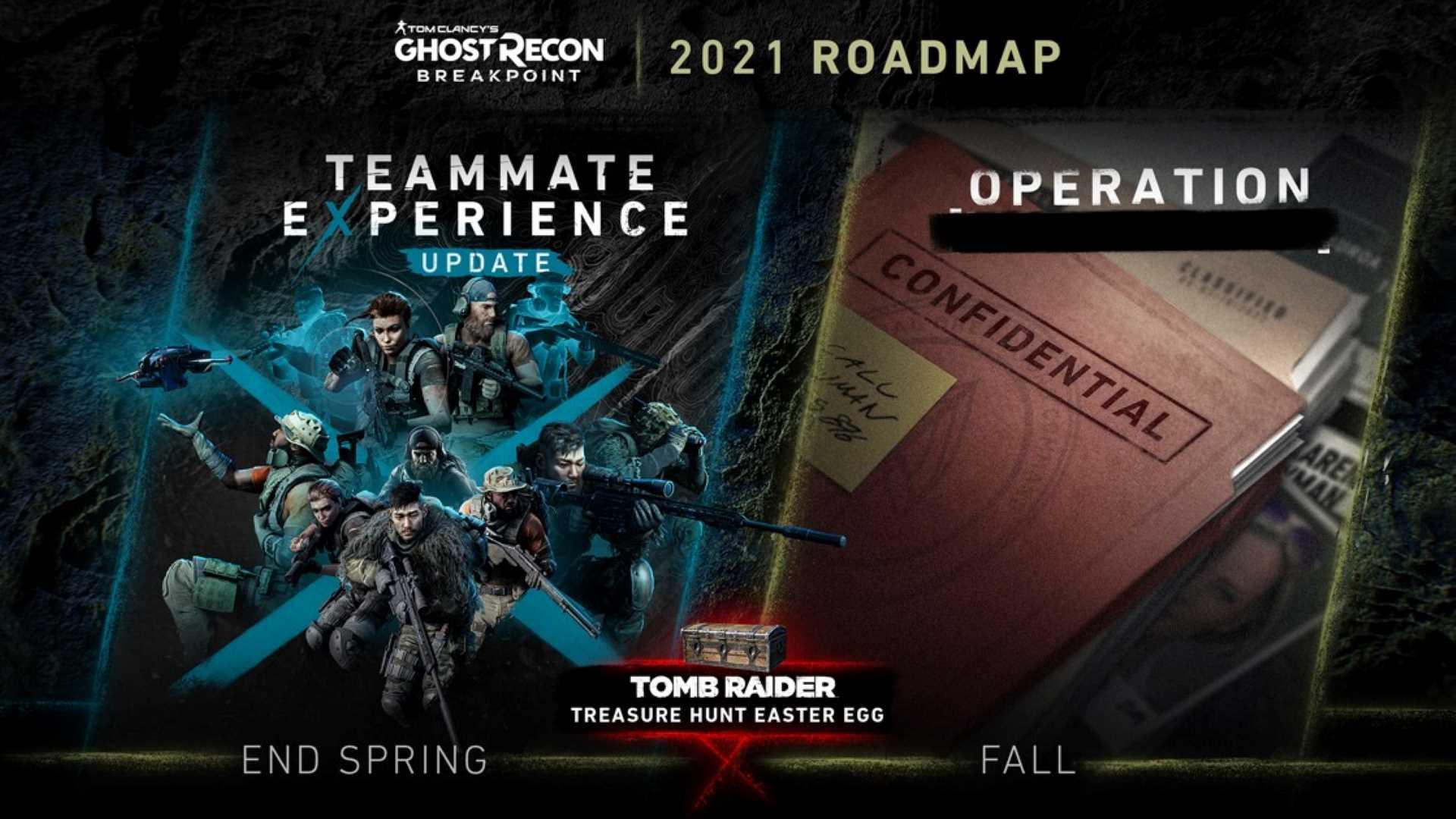 Ghost Recon Breakpoint Roadmap 2021 - Überblick