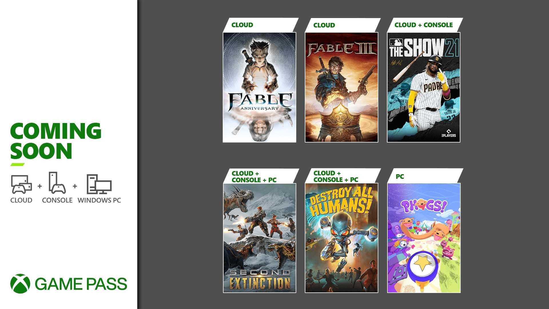 Highlights Xbox Game Pass April 2021 - Keyart