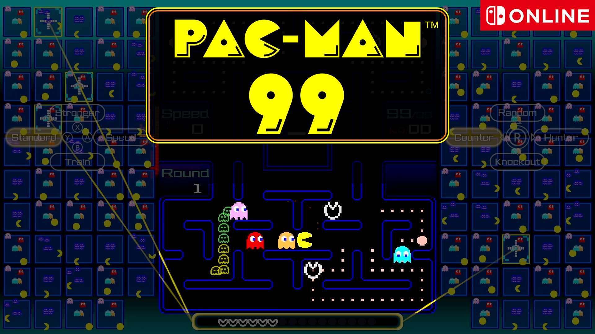 PAC-MAN 99 Nintendo Switch - Keyart