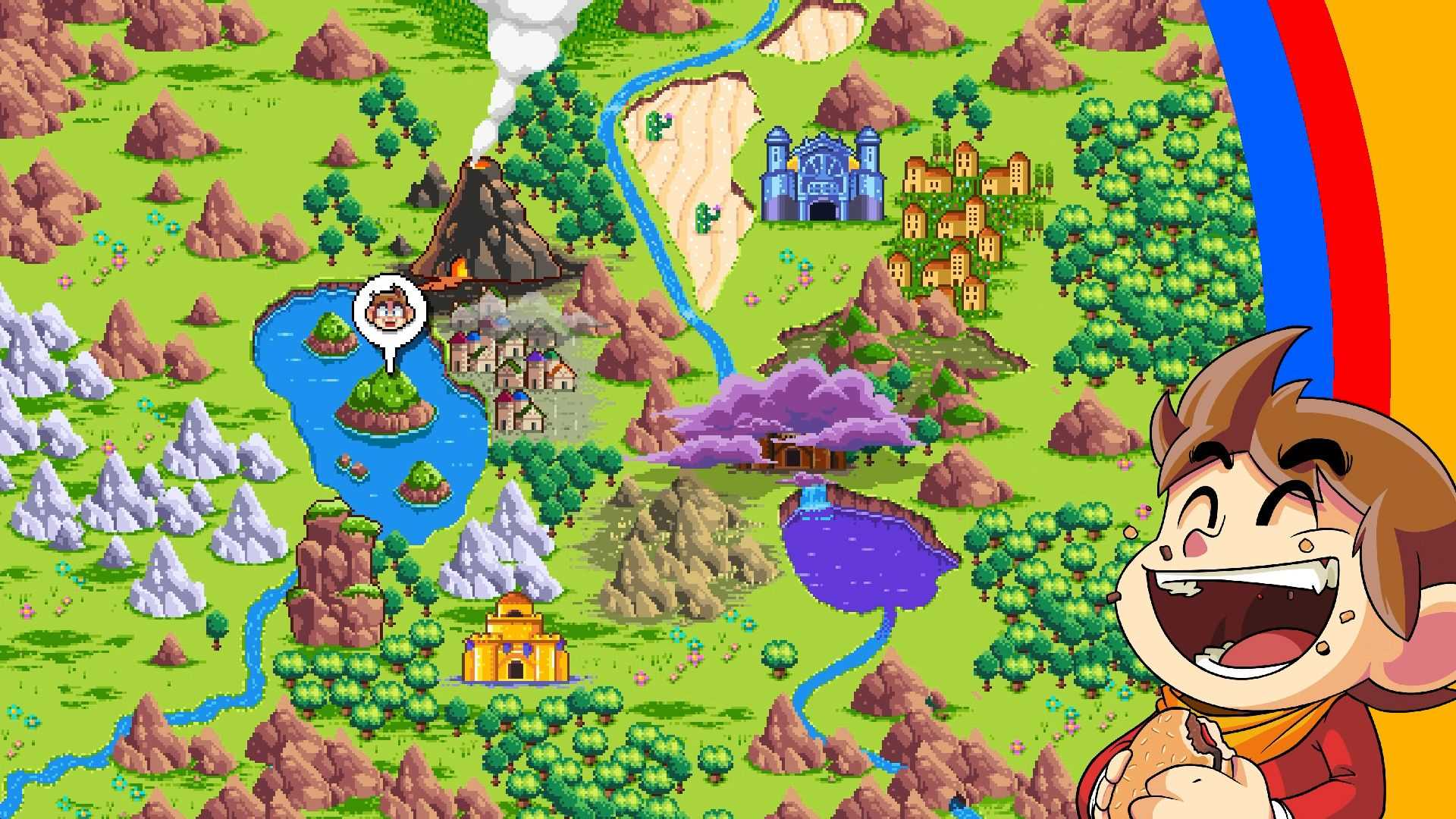 Alex Kidd in Miracle World DX - Weltkarte