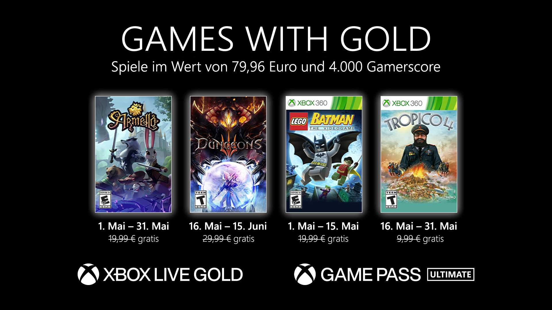 Games with Gold Mai 2021 - Keyart