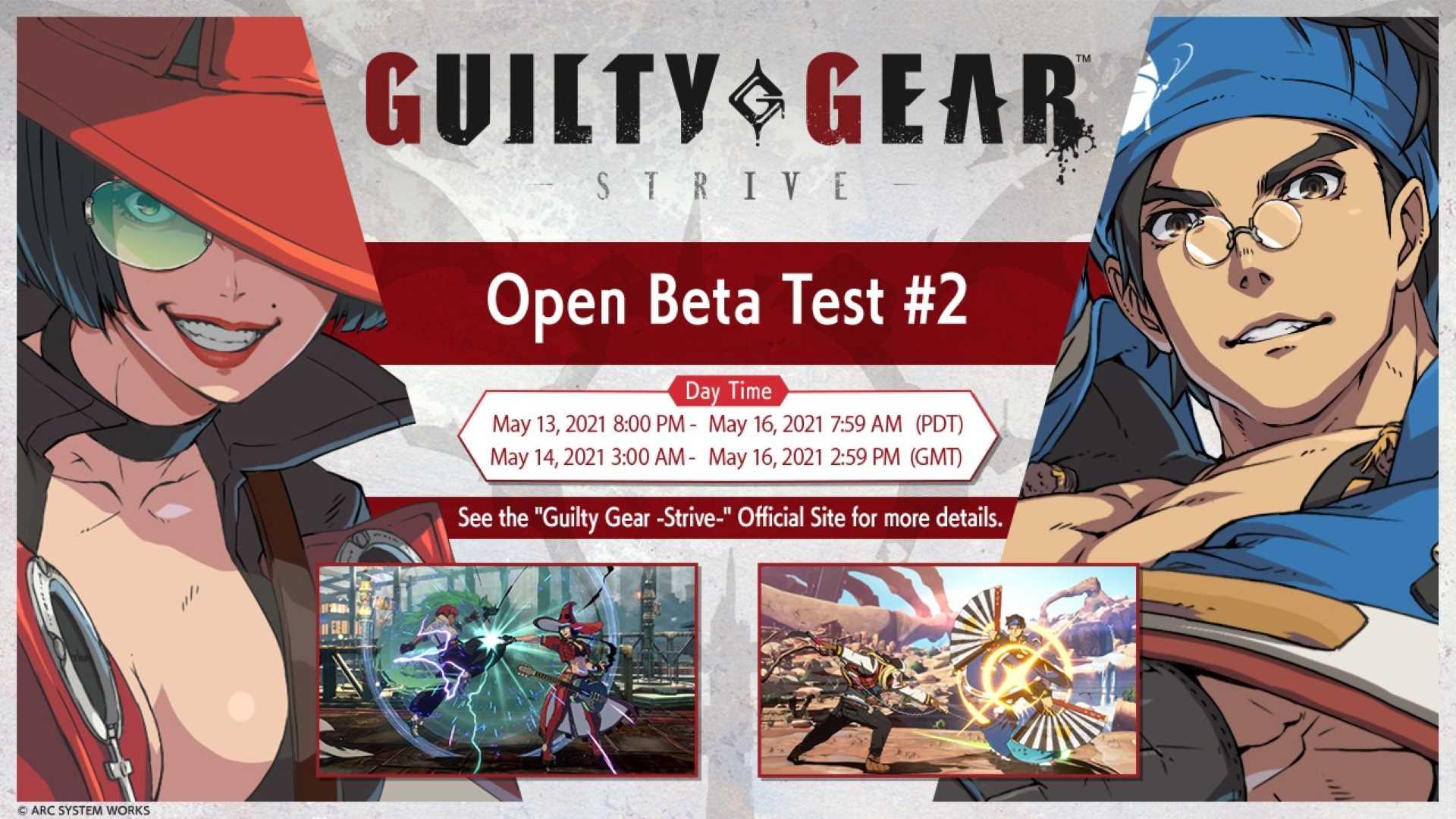 zweite Guilty Gear -Strive- Open-Beta - Termine