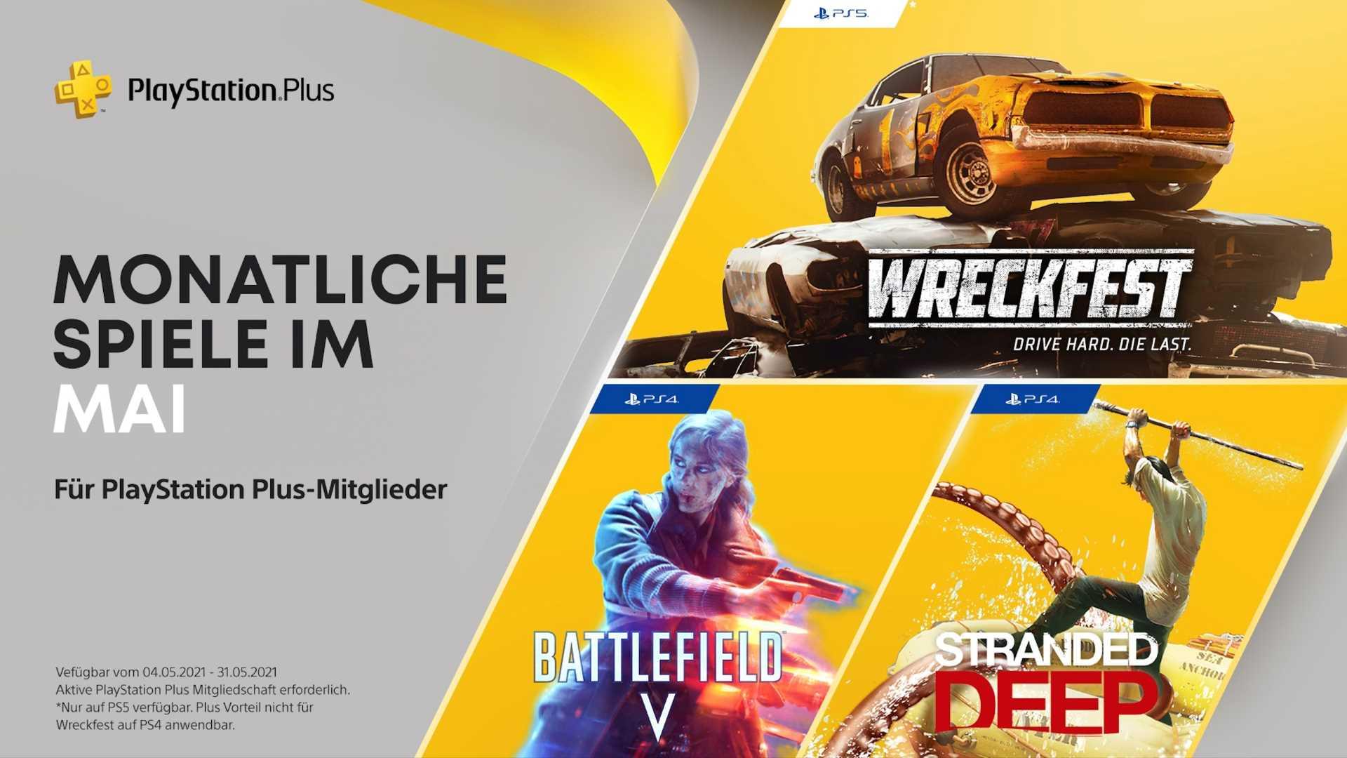 PlayStation Plus Mai 2021 - Keyart