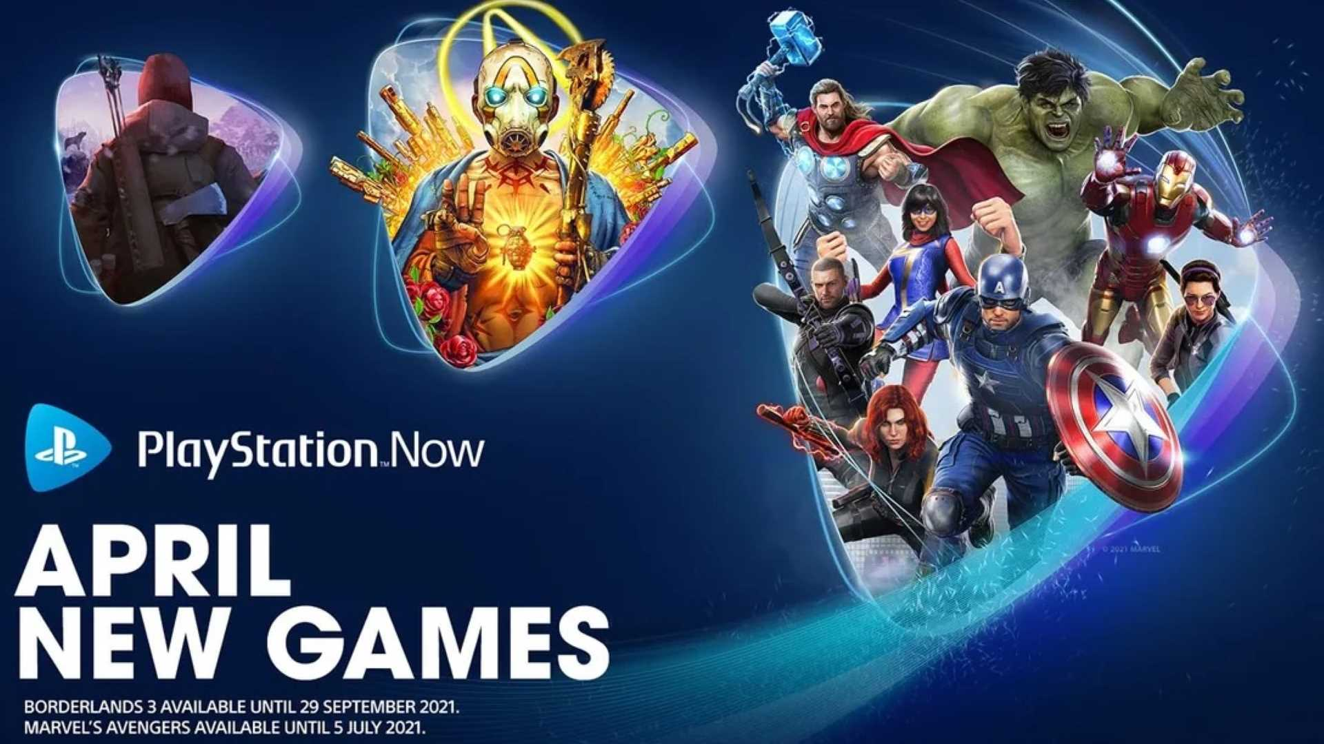 PlayStation Now April 2021 - Keyart