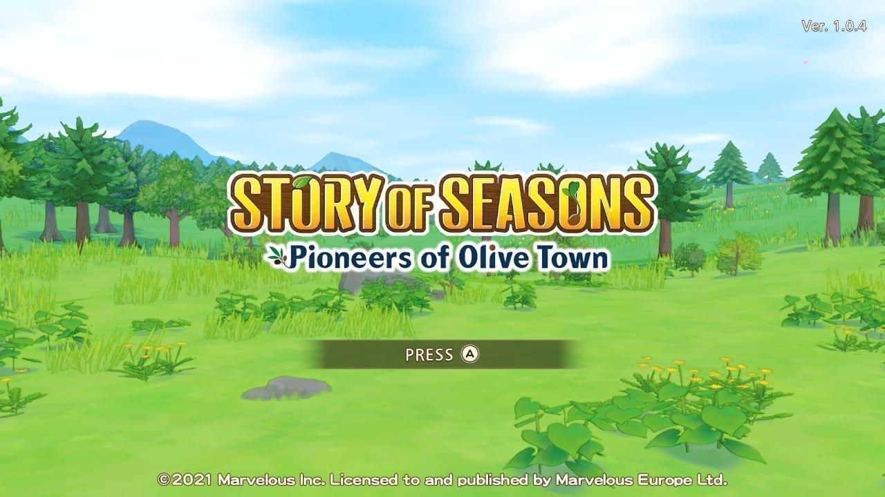 Story of Seasons: Pioneers of Olive Town Titelbildschirm