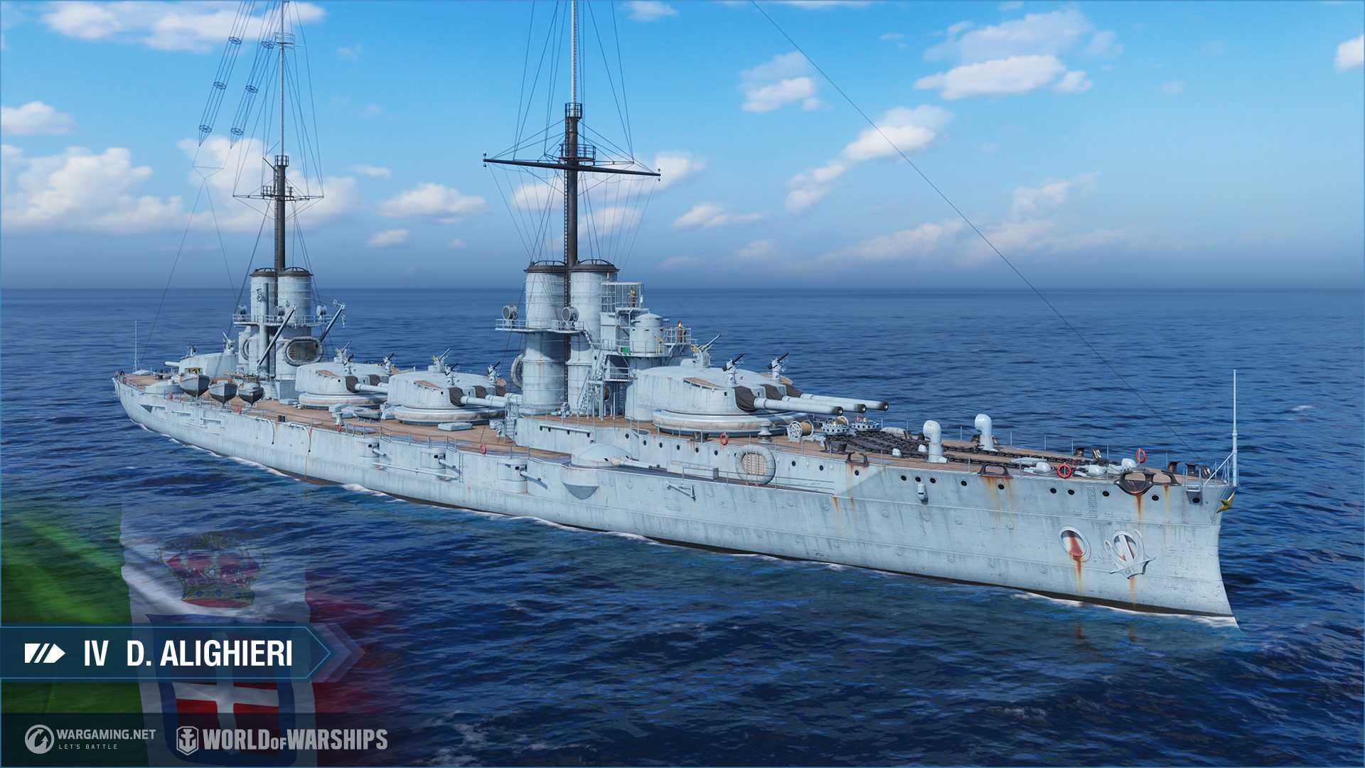 World of Warships Update 0.10.3 - D. Aligiheri