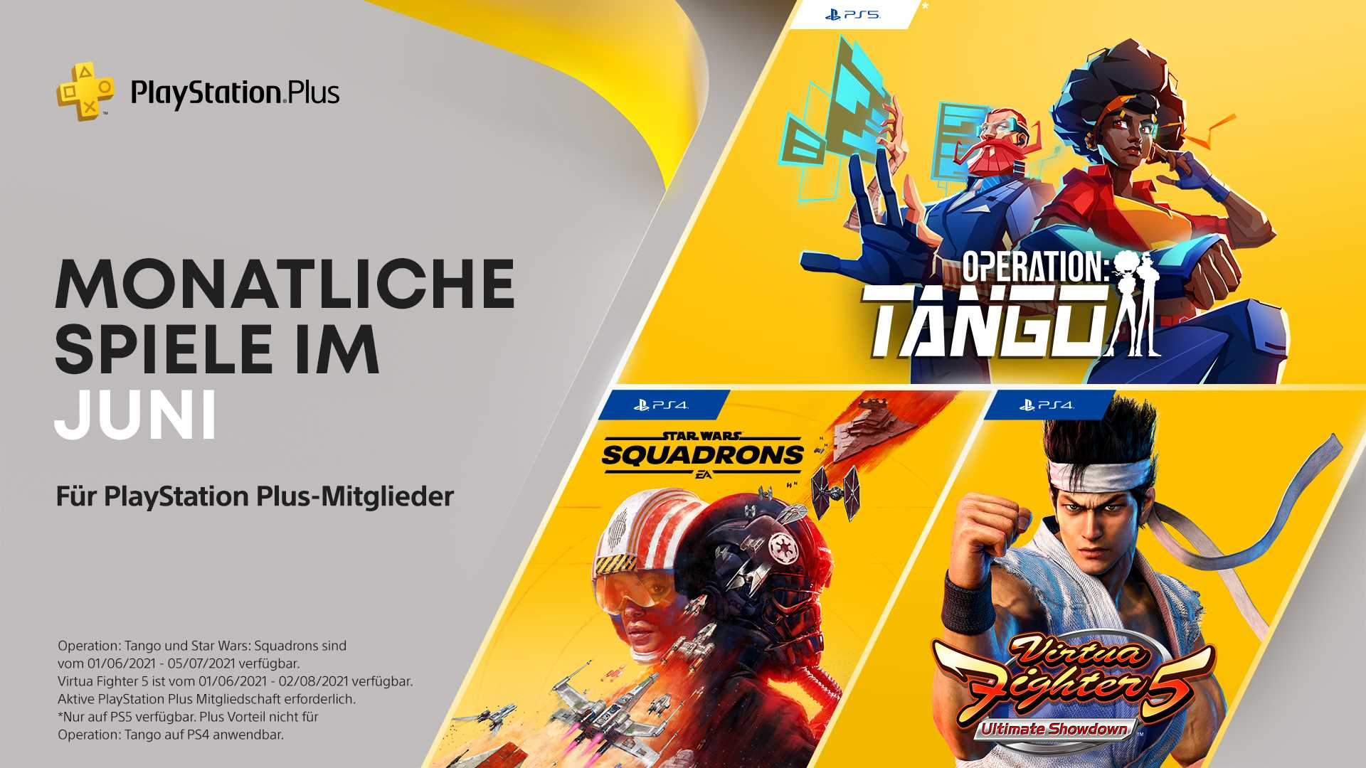 PlayStation Plus Juni 2021 - Key Art