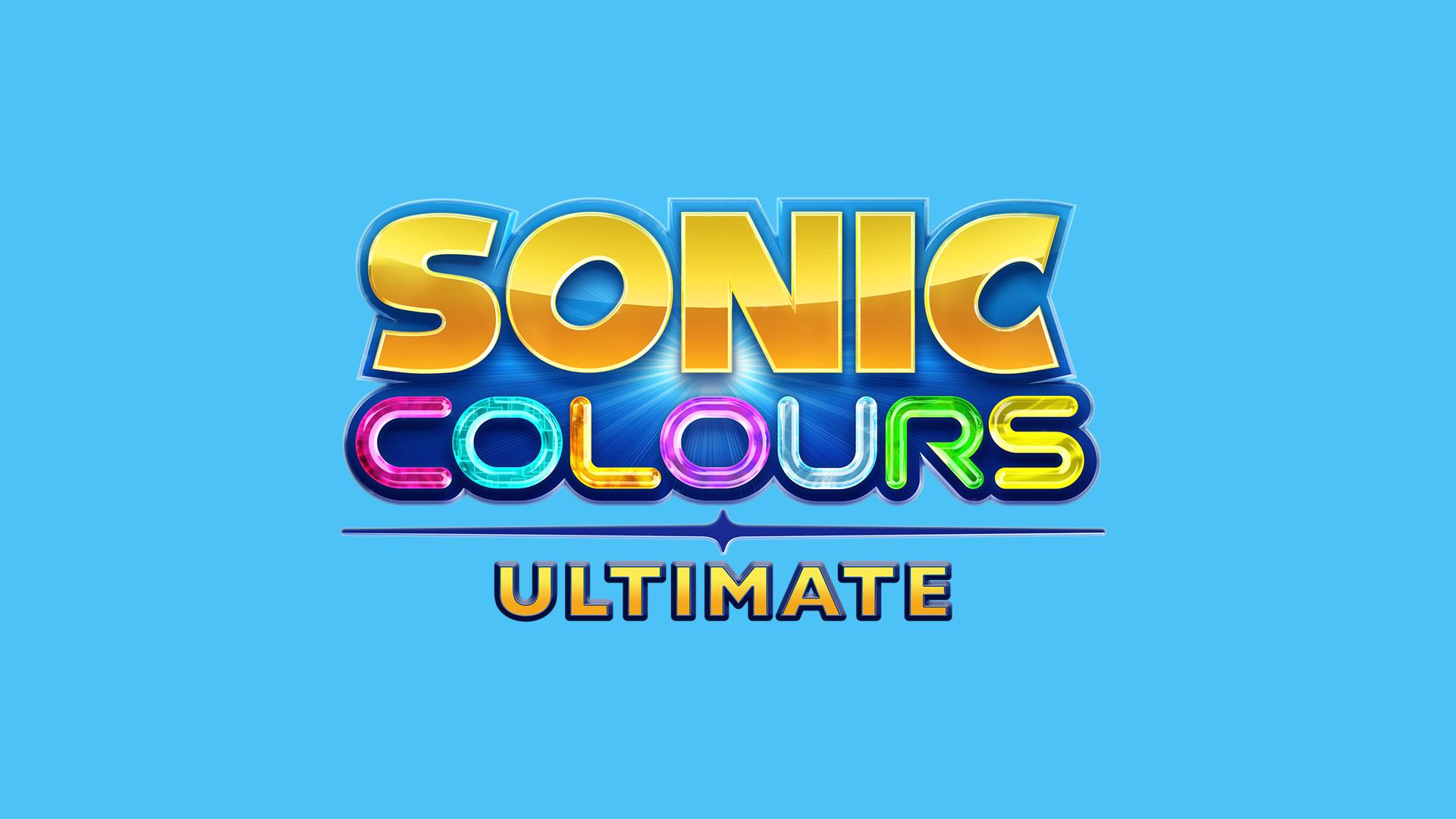 Sonic Colors: Ultimate - Logo auf blau
