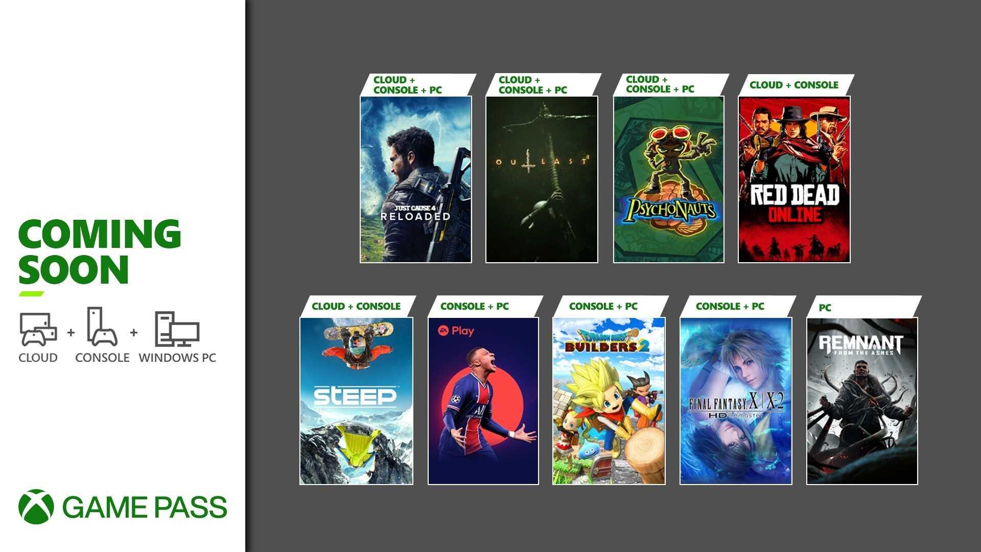 Xbox Game Pass Mai 2021 - Keyart