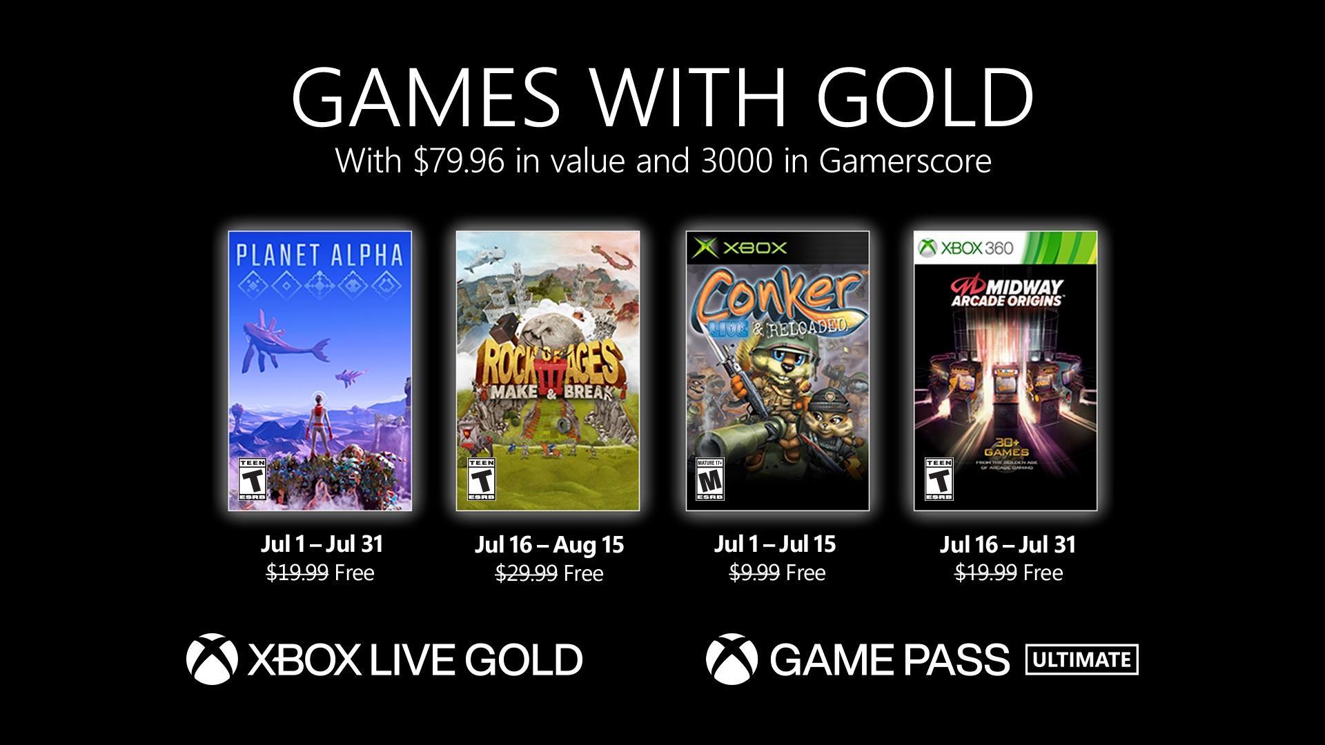 Games with Gold Juli 2021 - Key Art