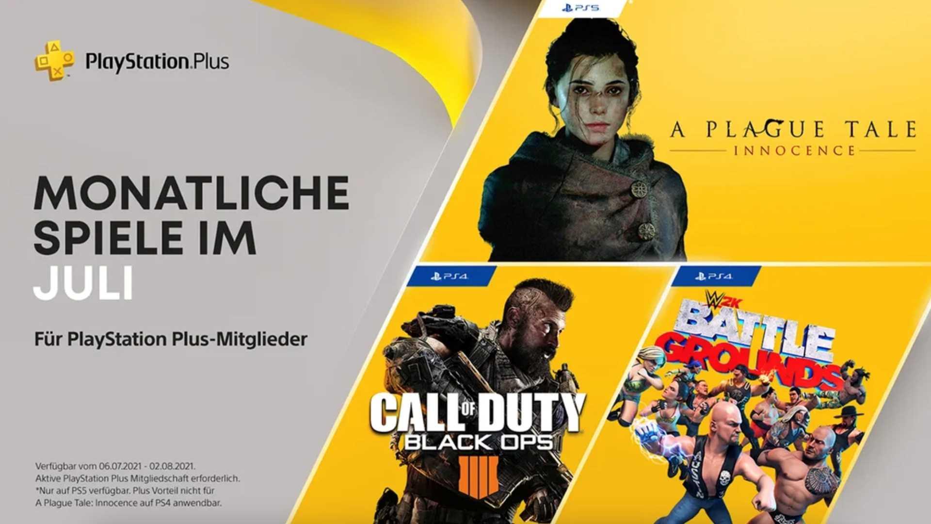 PlayStation Plus Juli 2021 - Key Art
